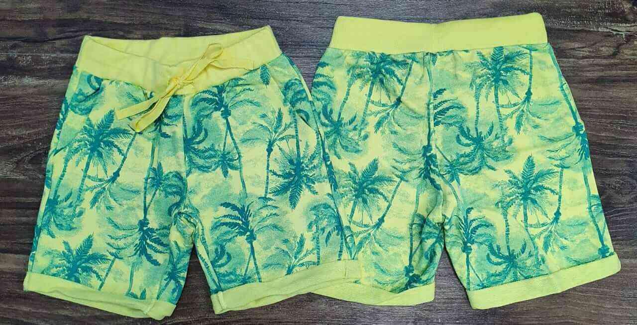 Bermuda Amarela Floral Infantil