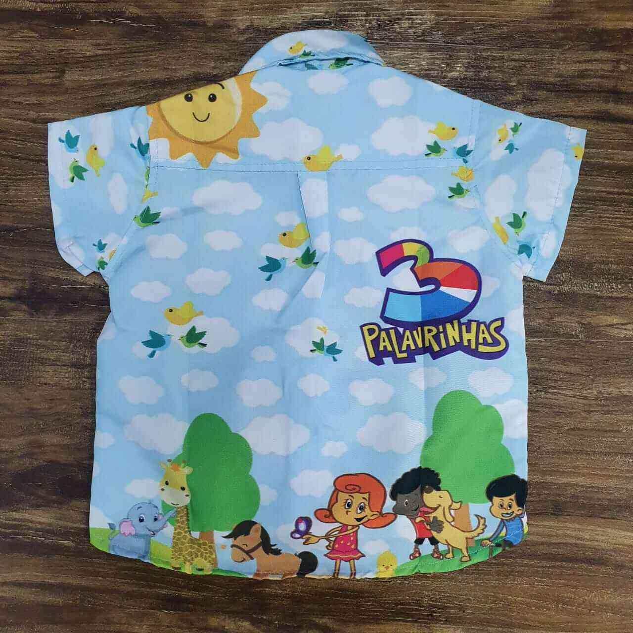 Conjunto 3 Palavrinhas Bermuda mais Camisa