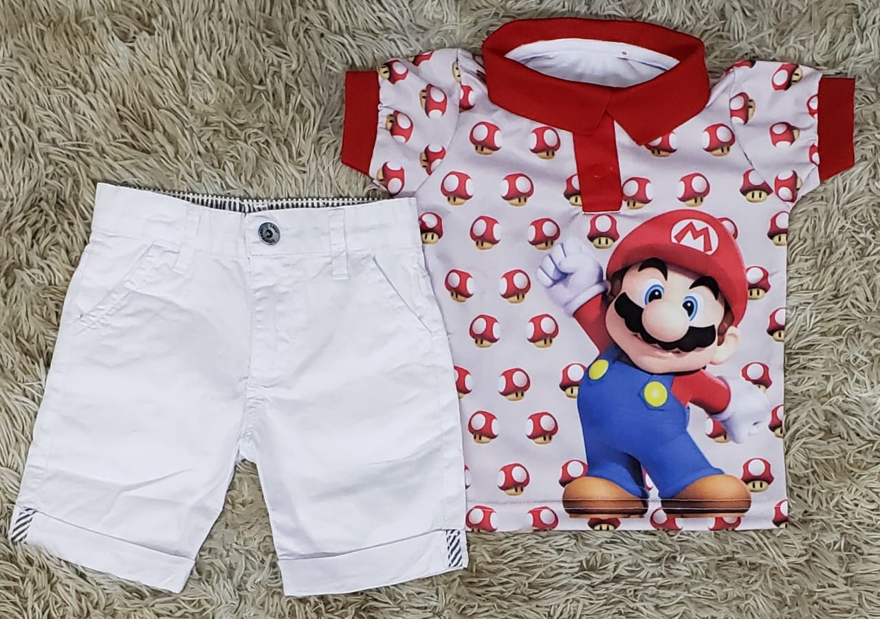 Roupa Mario Bross Infantil