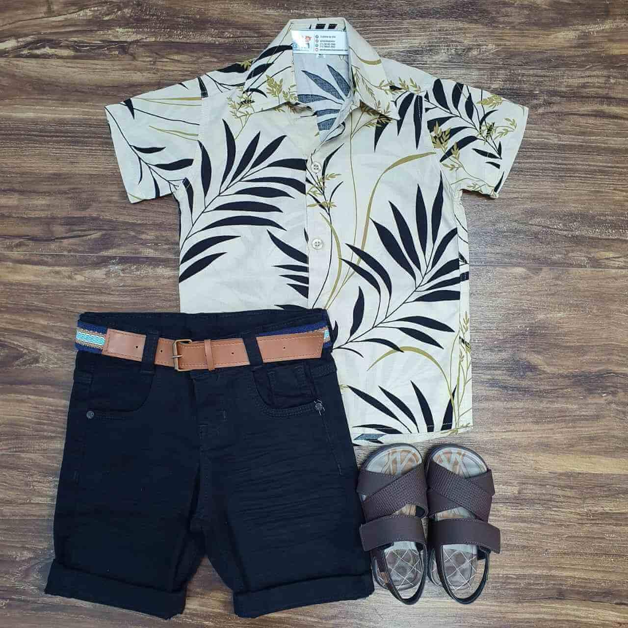 Bermuda com Camisa Bamboo Infantil