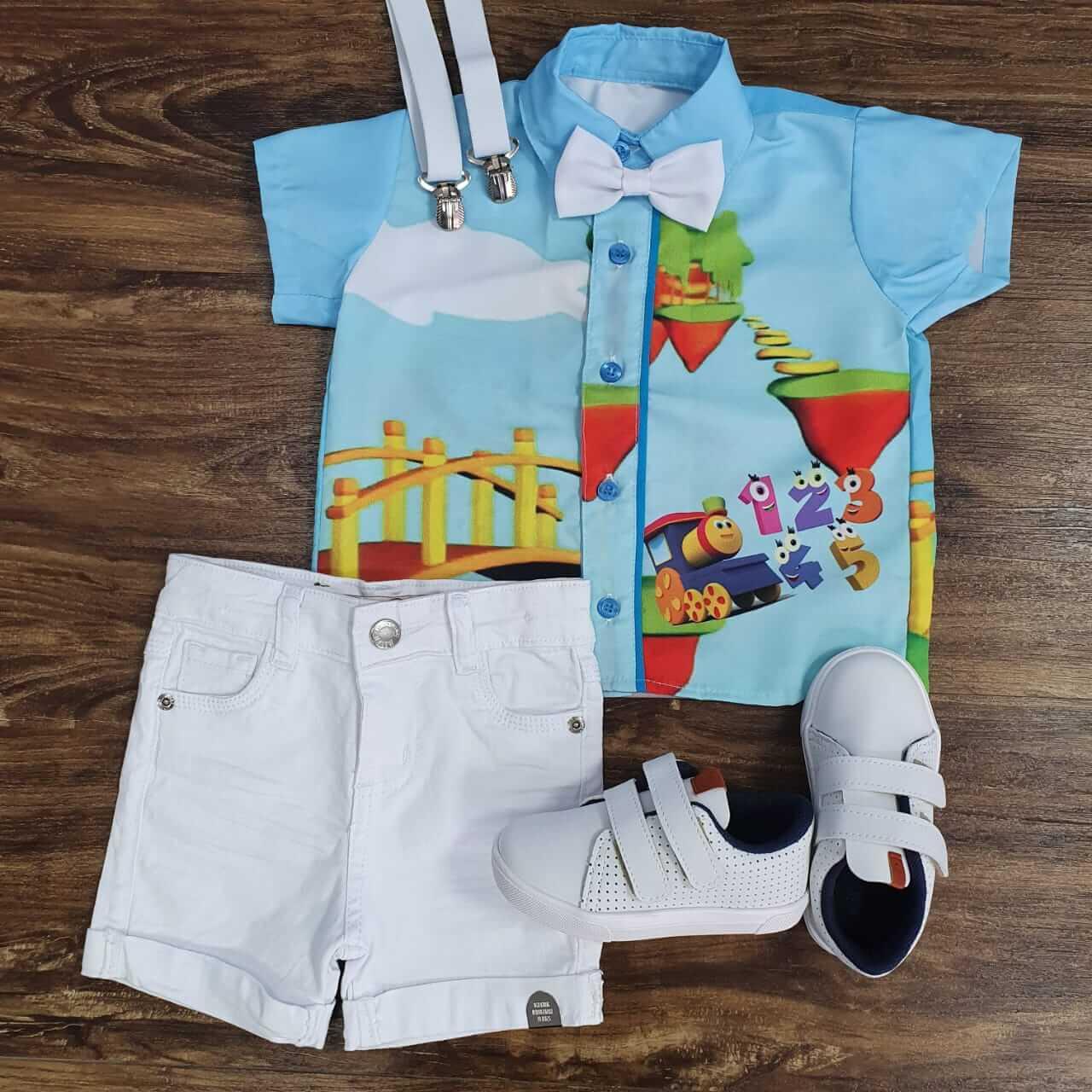 Bermuda com Camisa Bob o Trem Infantil