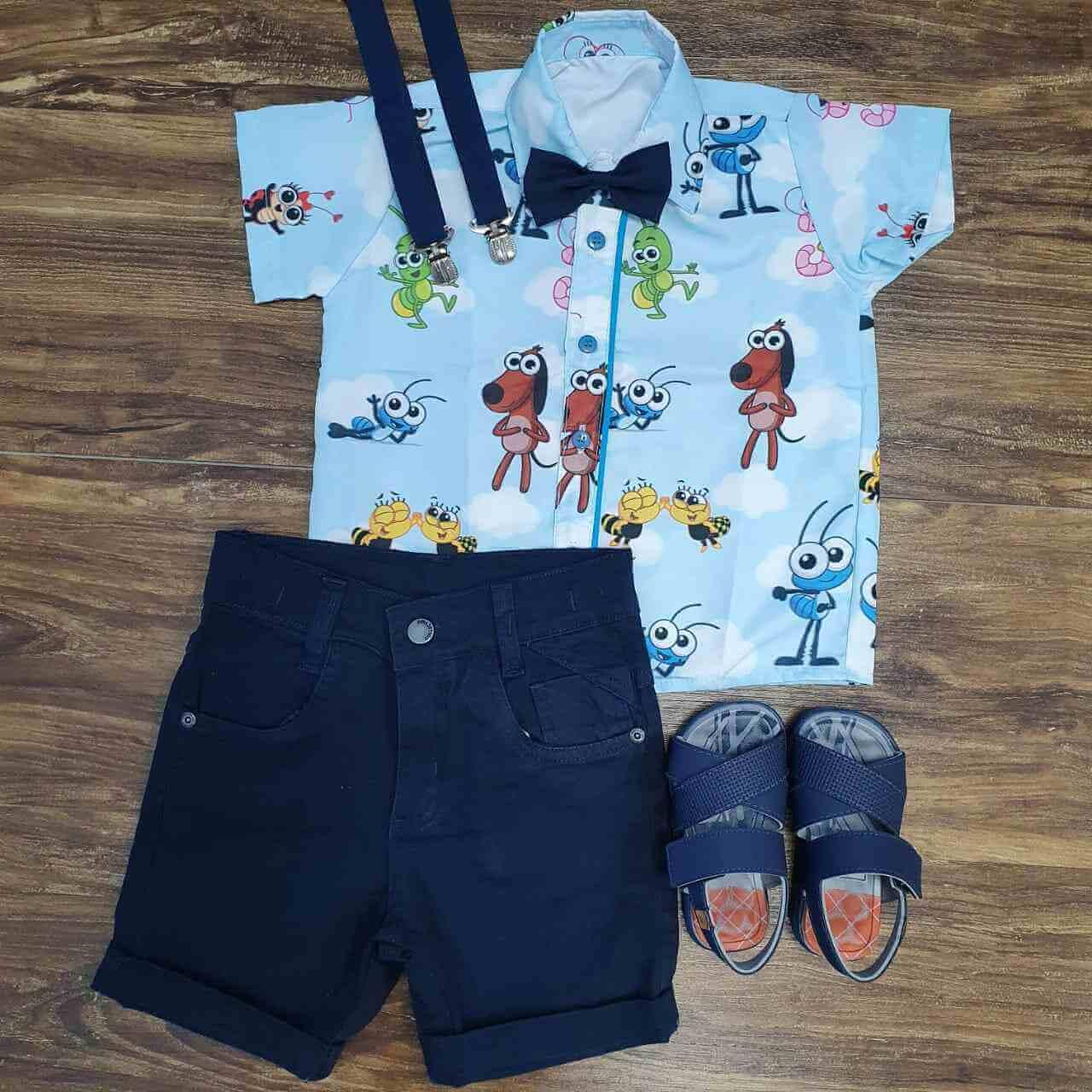 Bermuda com Camisa Bob Zoom Infantil