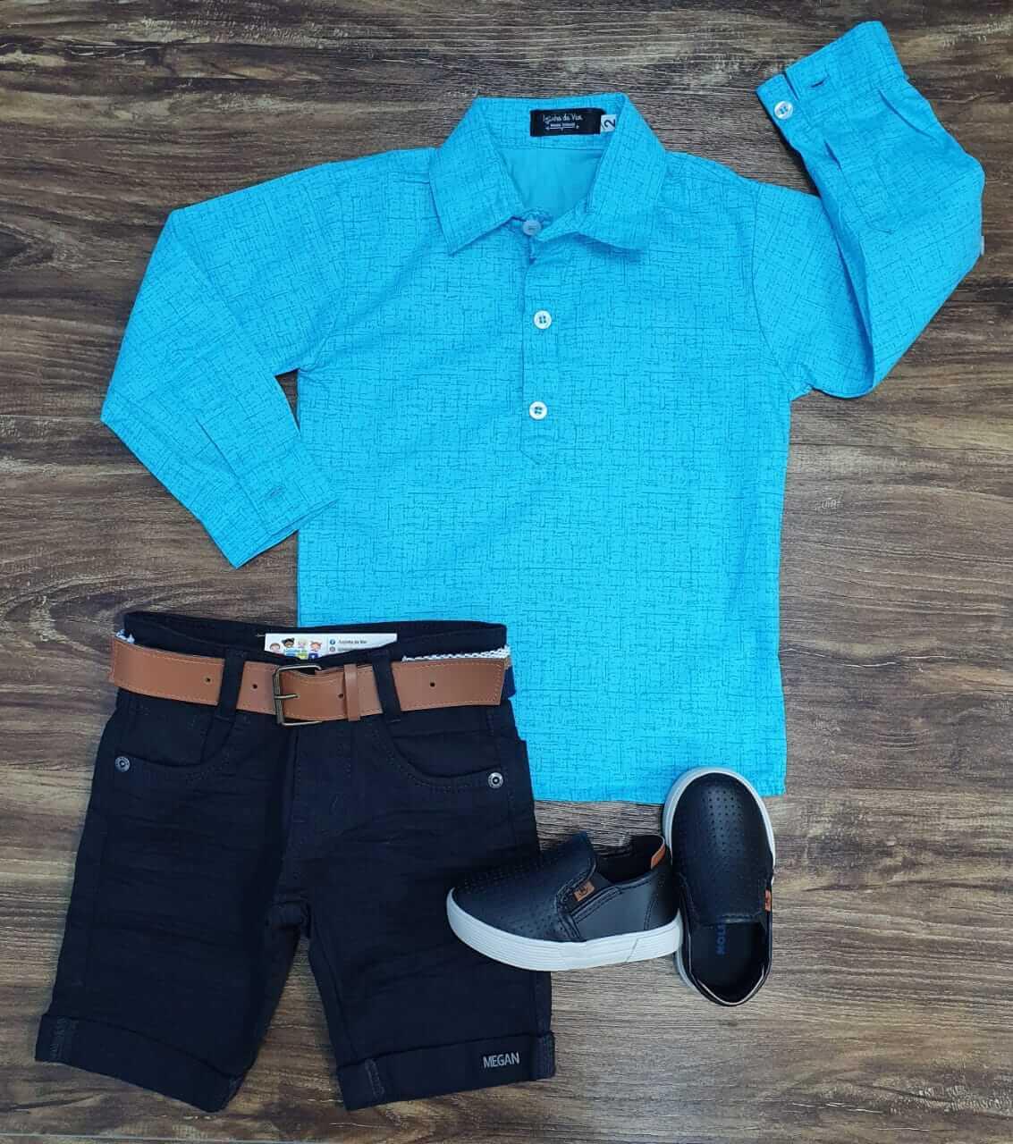 Bermuda com Camisa Bata Infantil
