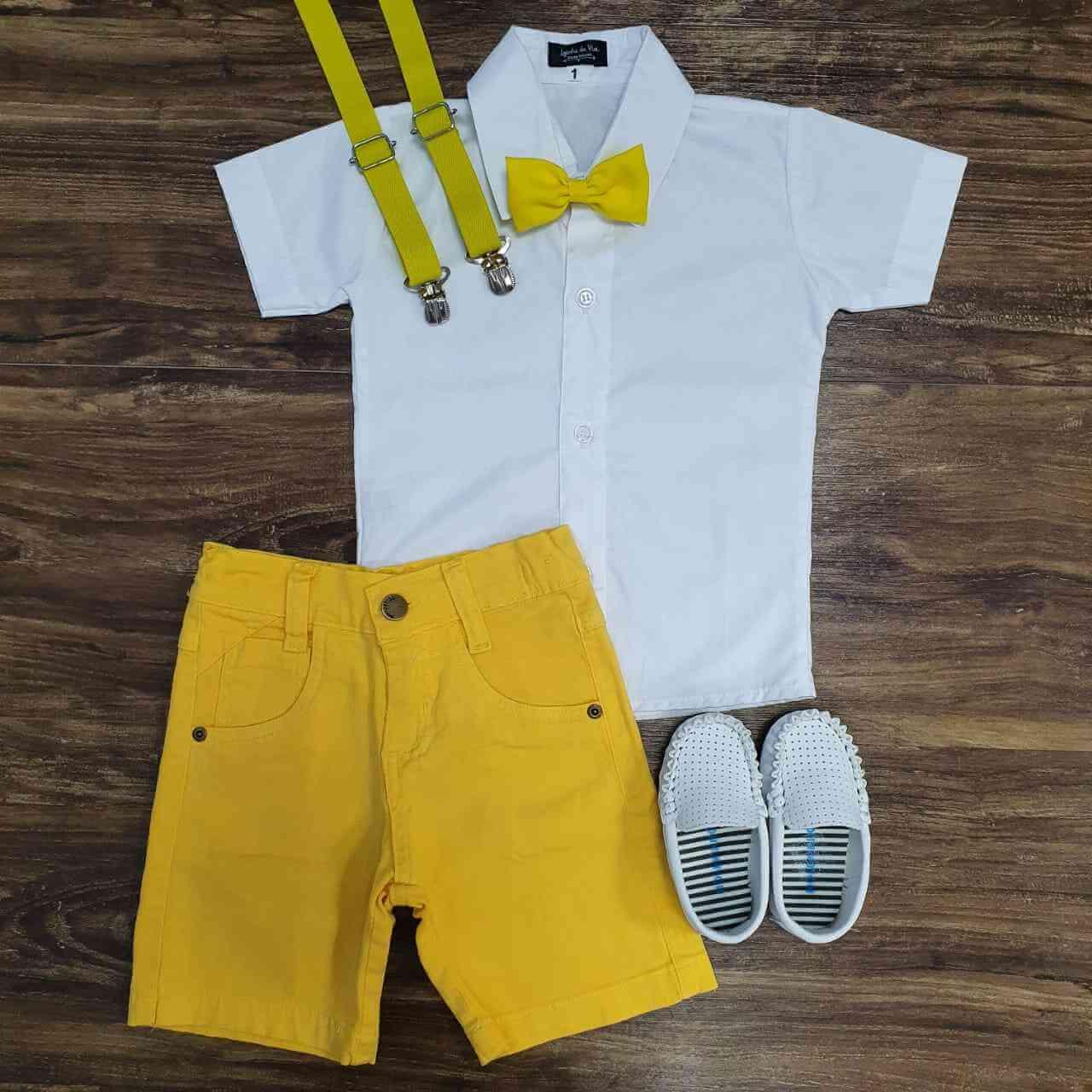 Bermuda com Camisa Infantil