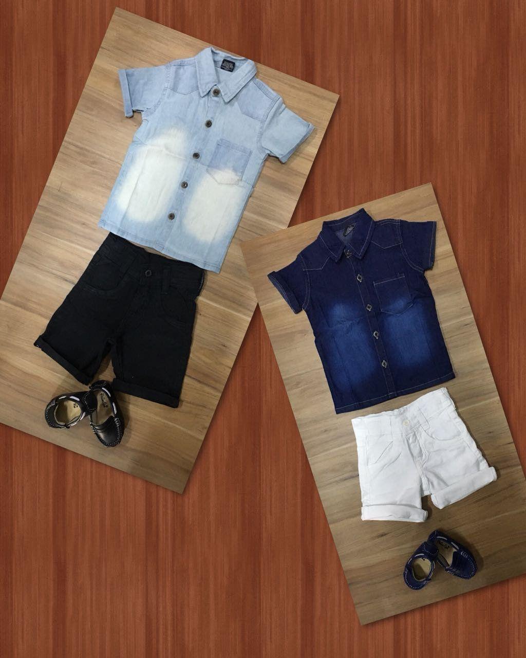 Bermuda com Camisa Jeans