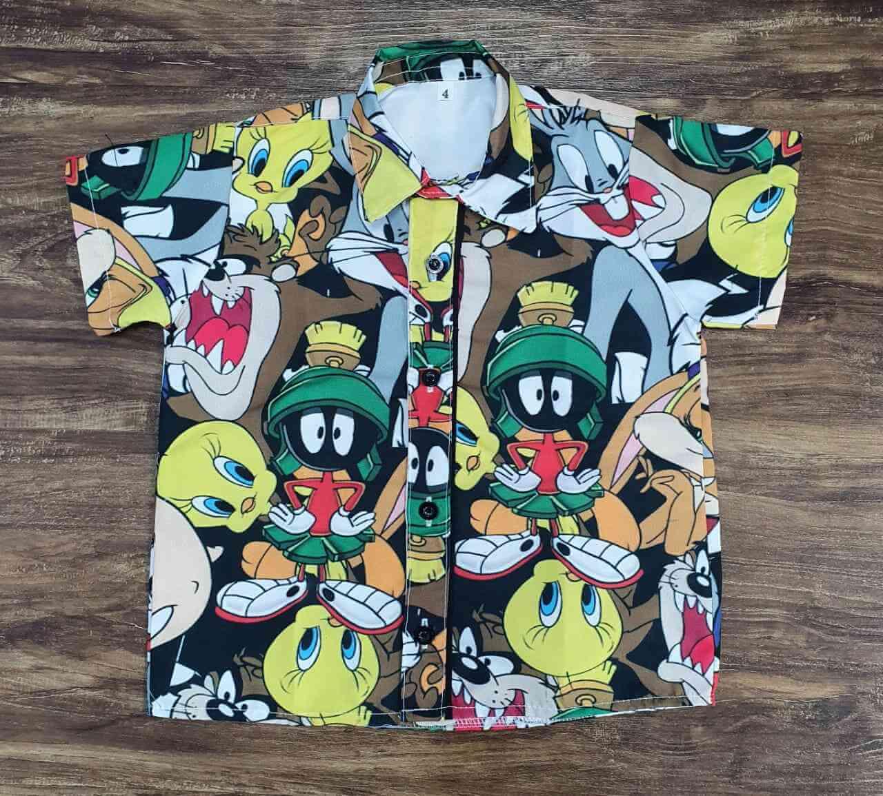 Bermuda com Camisa Looney Tunes Infantil
