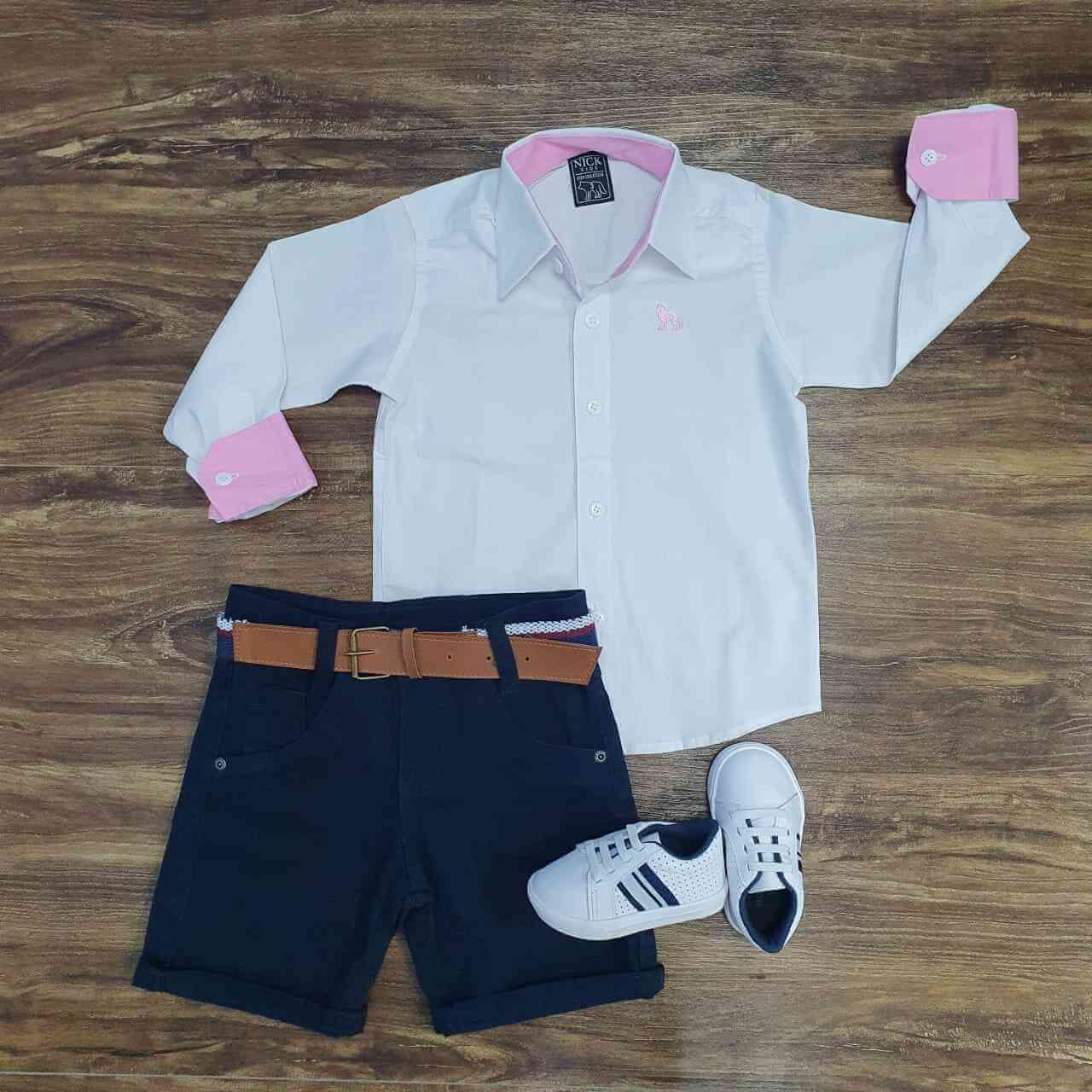 Bermuda com Camisa Manga Longa Infantil