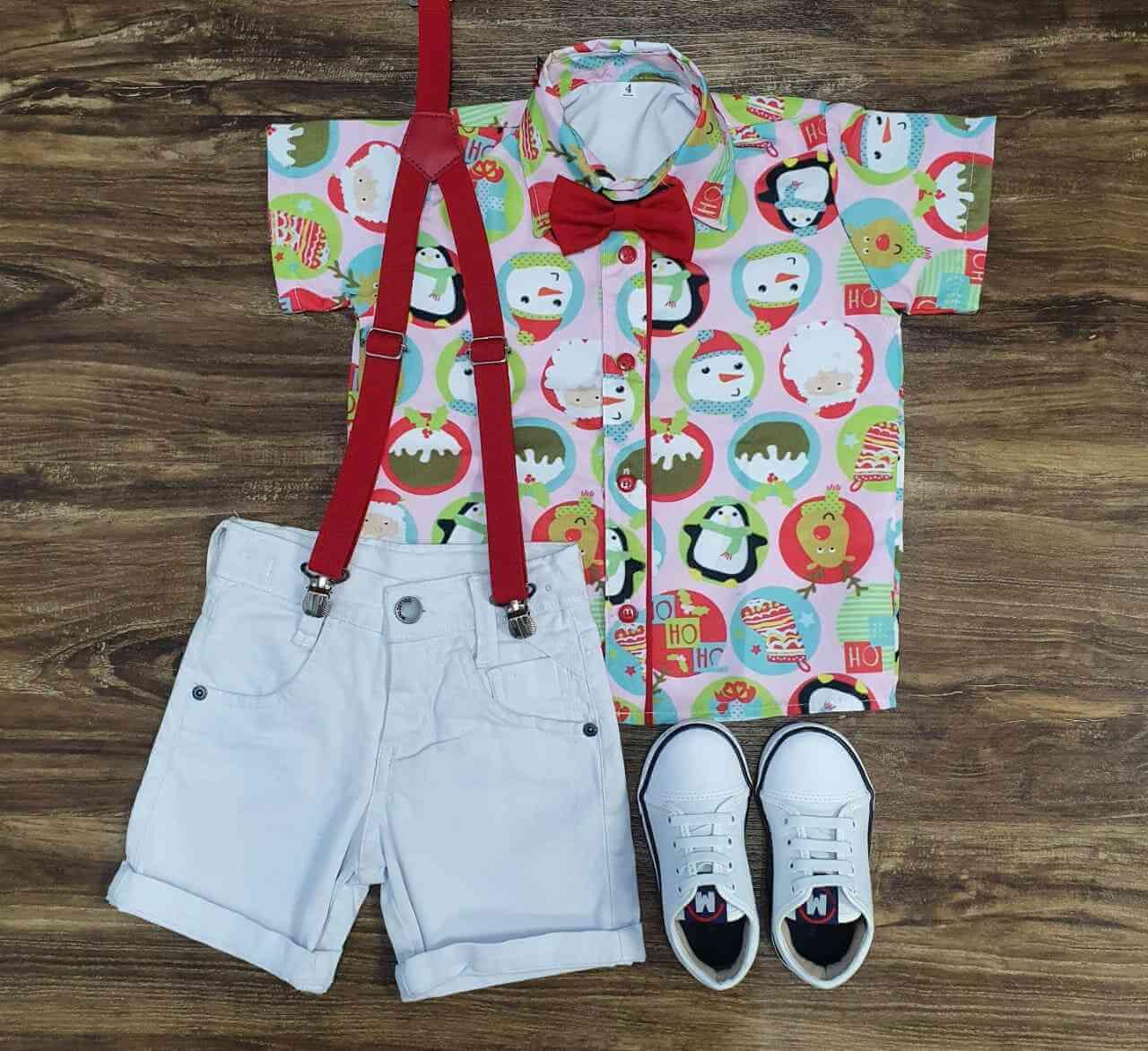 Conjunto Branco Natal Infantil
