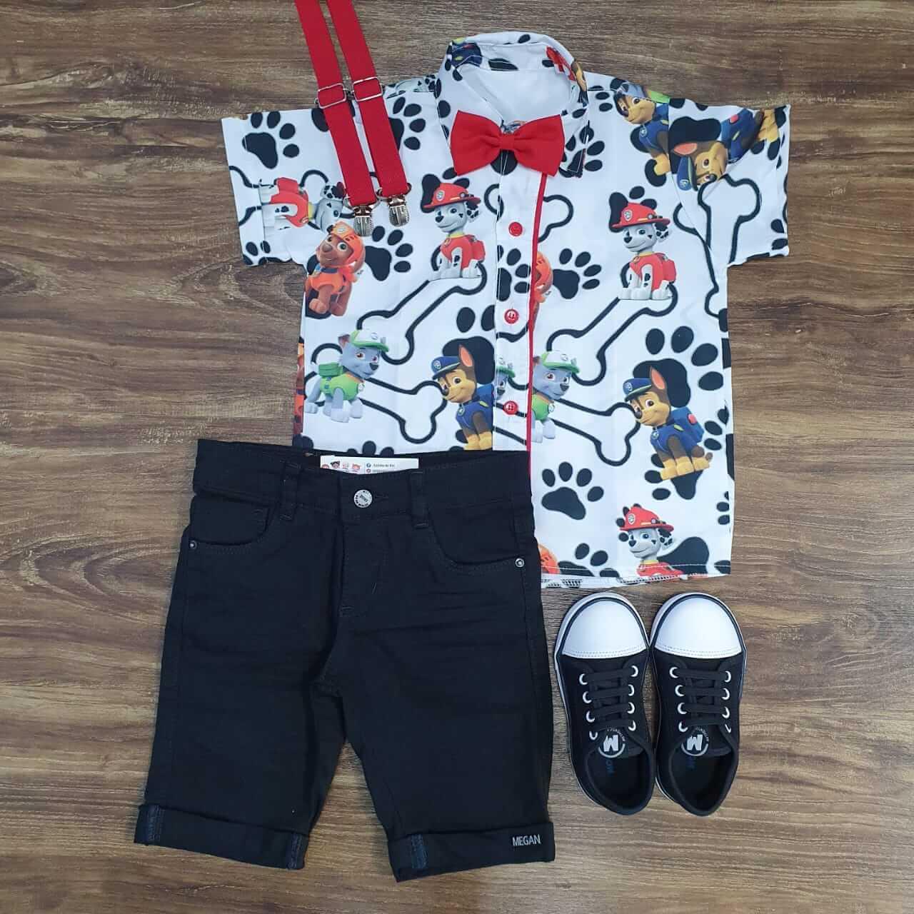 Bermuda com Camisa Patrulha Canina