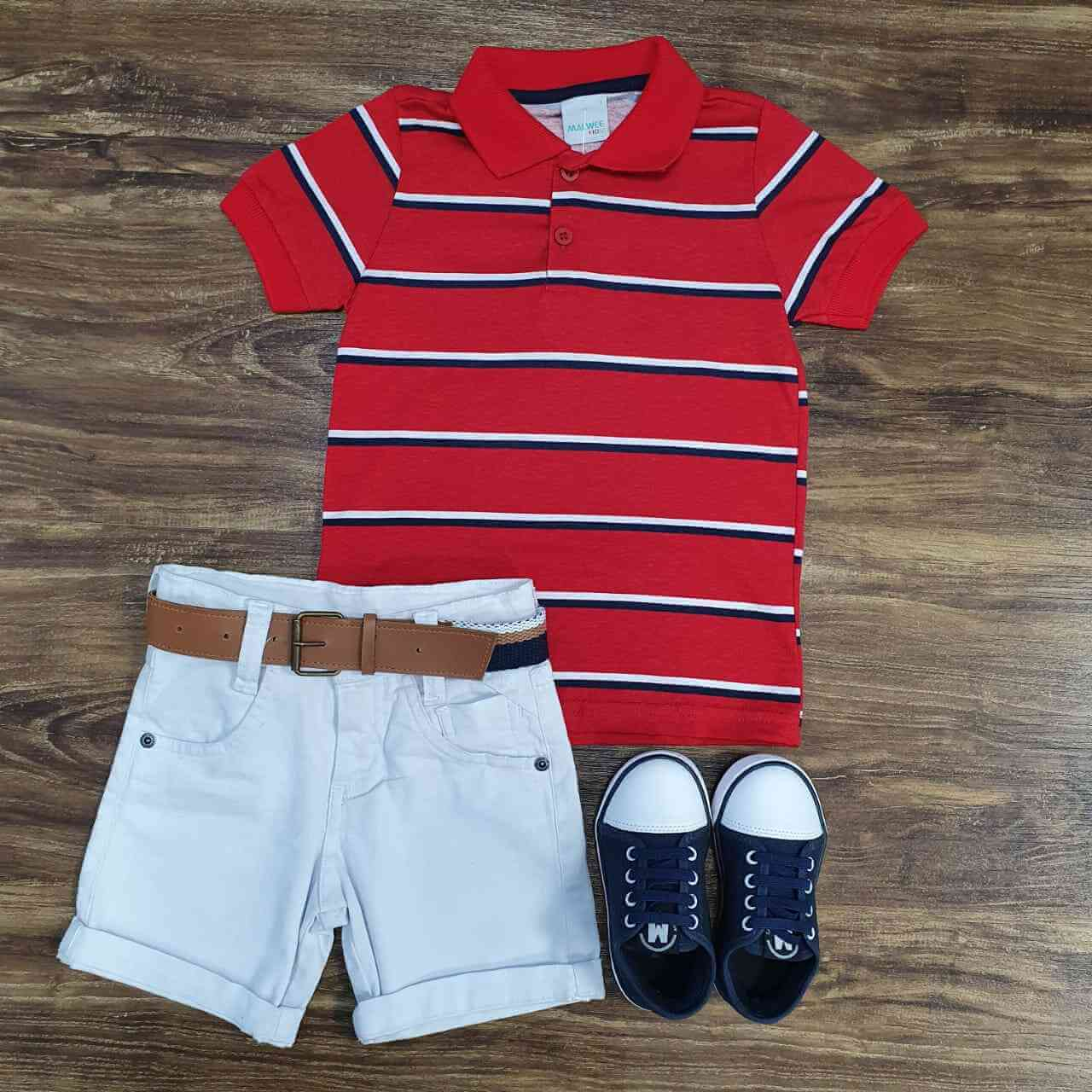 Bermuda com Camisa Polo Infantil