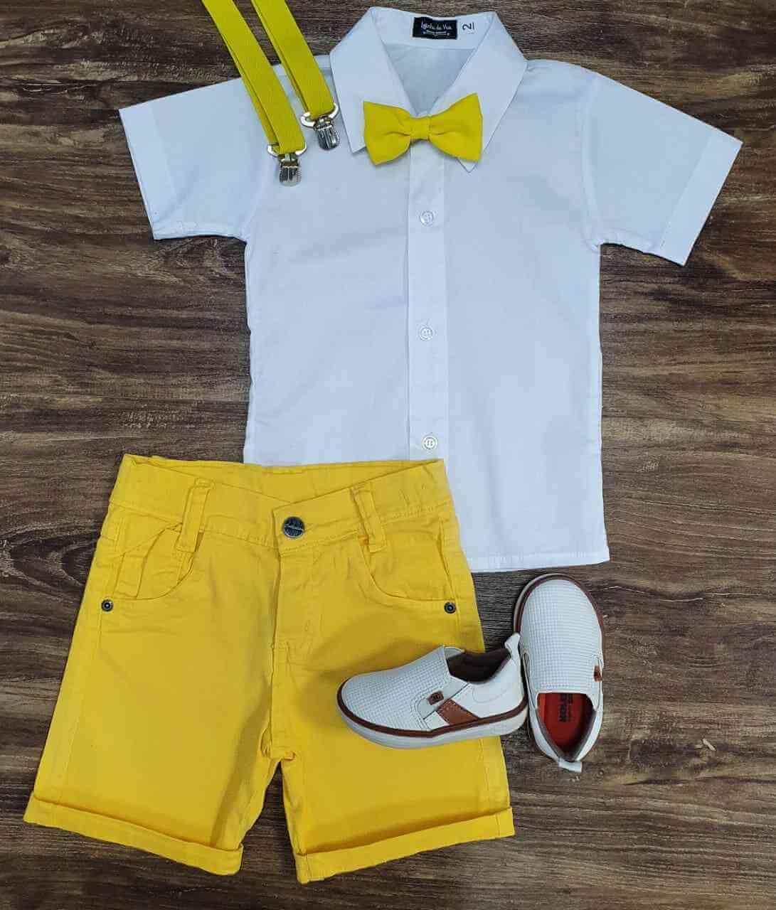 Bermuda com Camisa Social Infantil