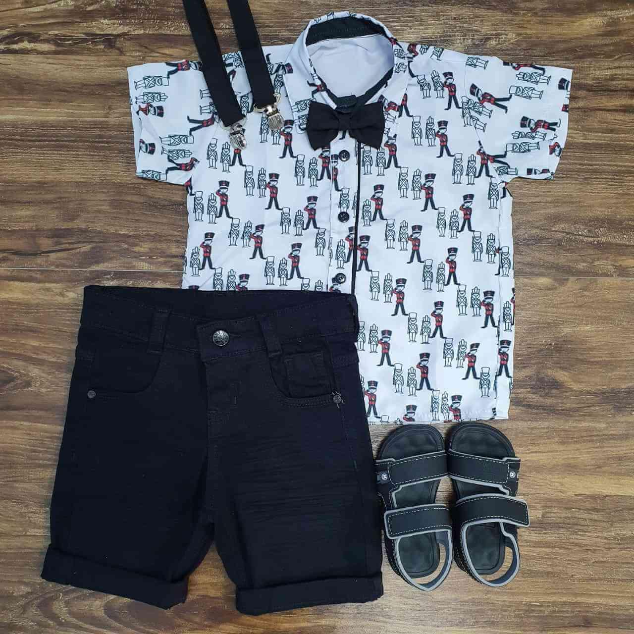 Bermuda com Camisa Soldadinho de Chumbo Infantil