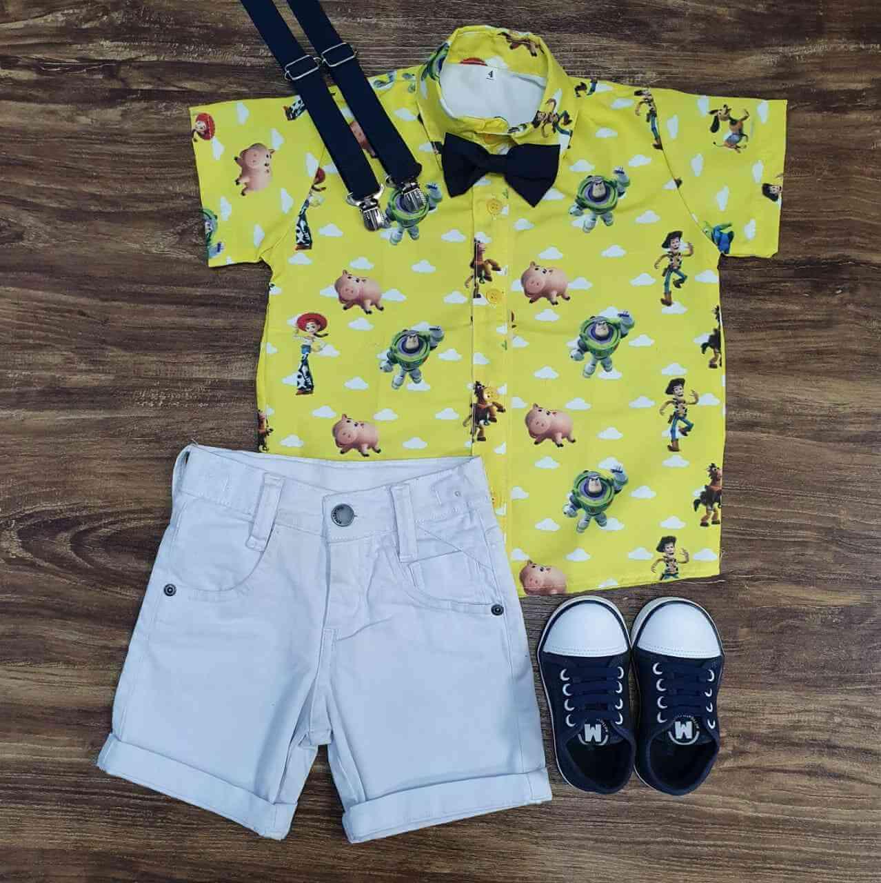 Bermuda com Camisa Toy Story Infantil