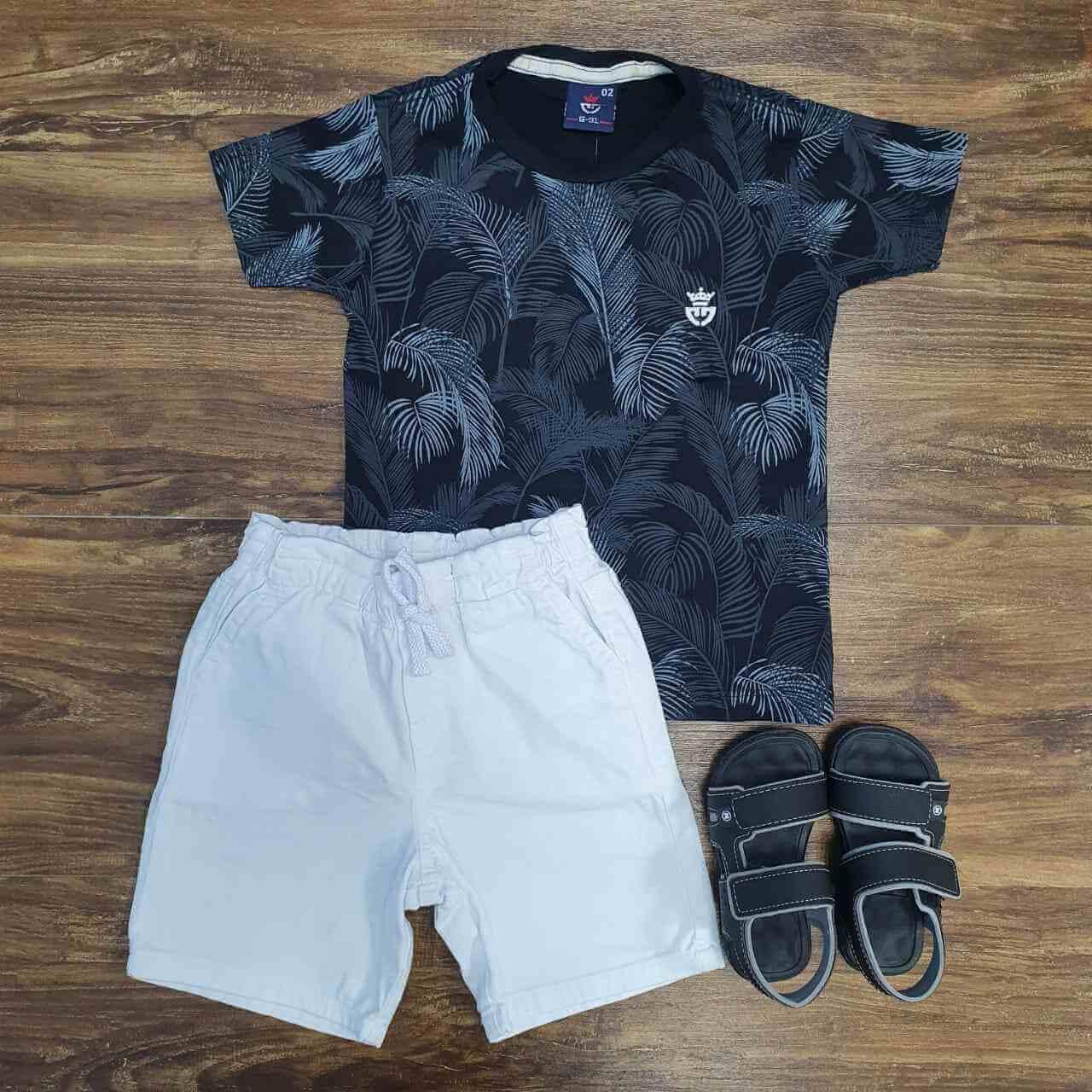 Bermuda com Camiseta Dark Forest Infantil