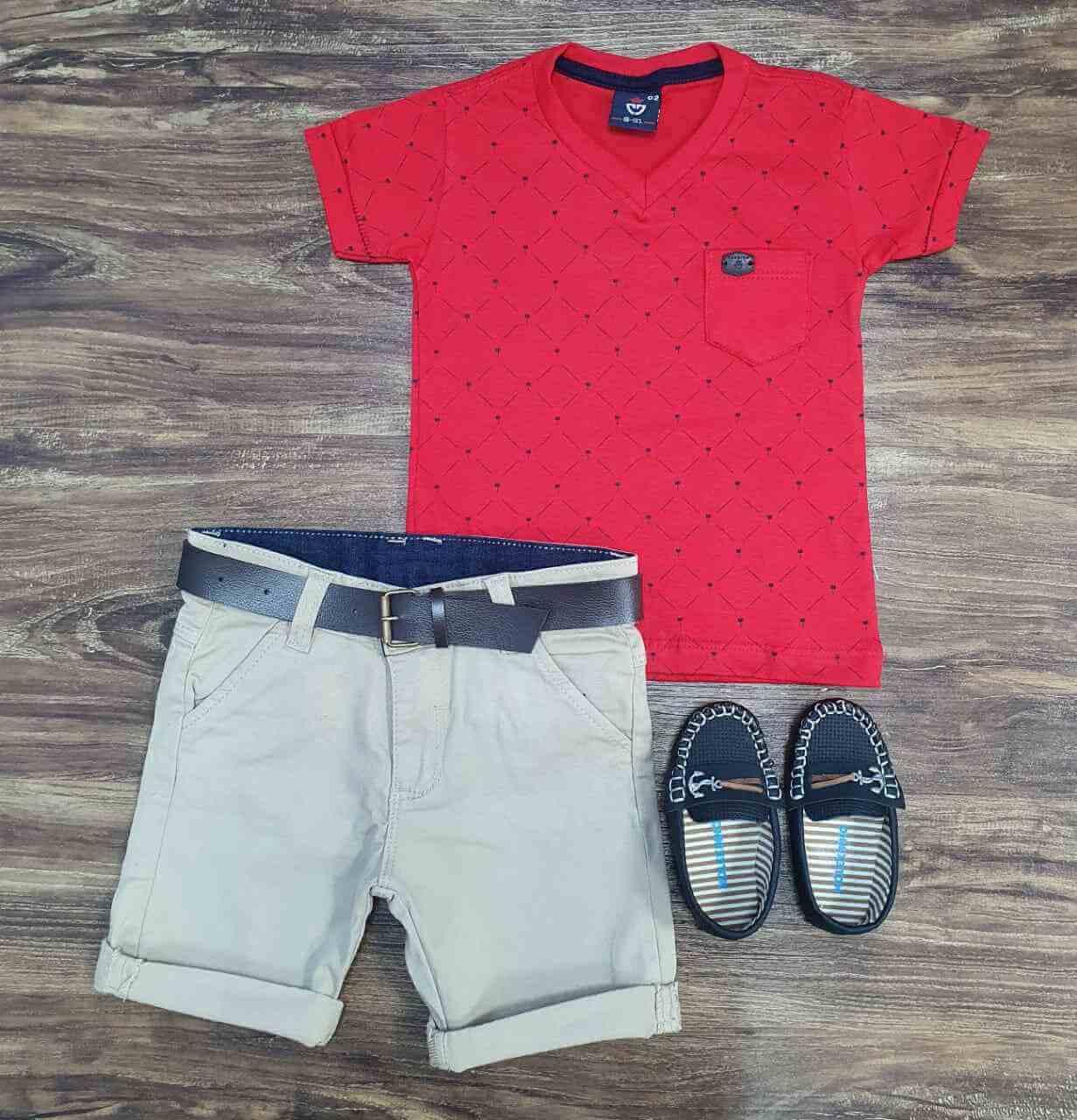 Bermuda com Camiseta Infantil