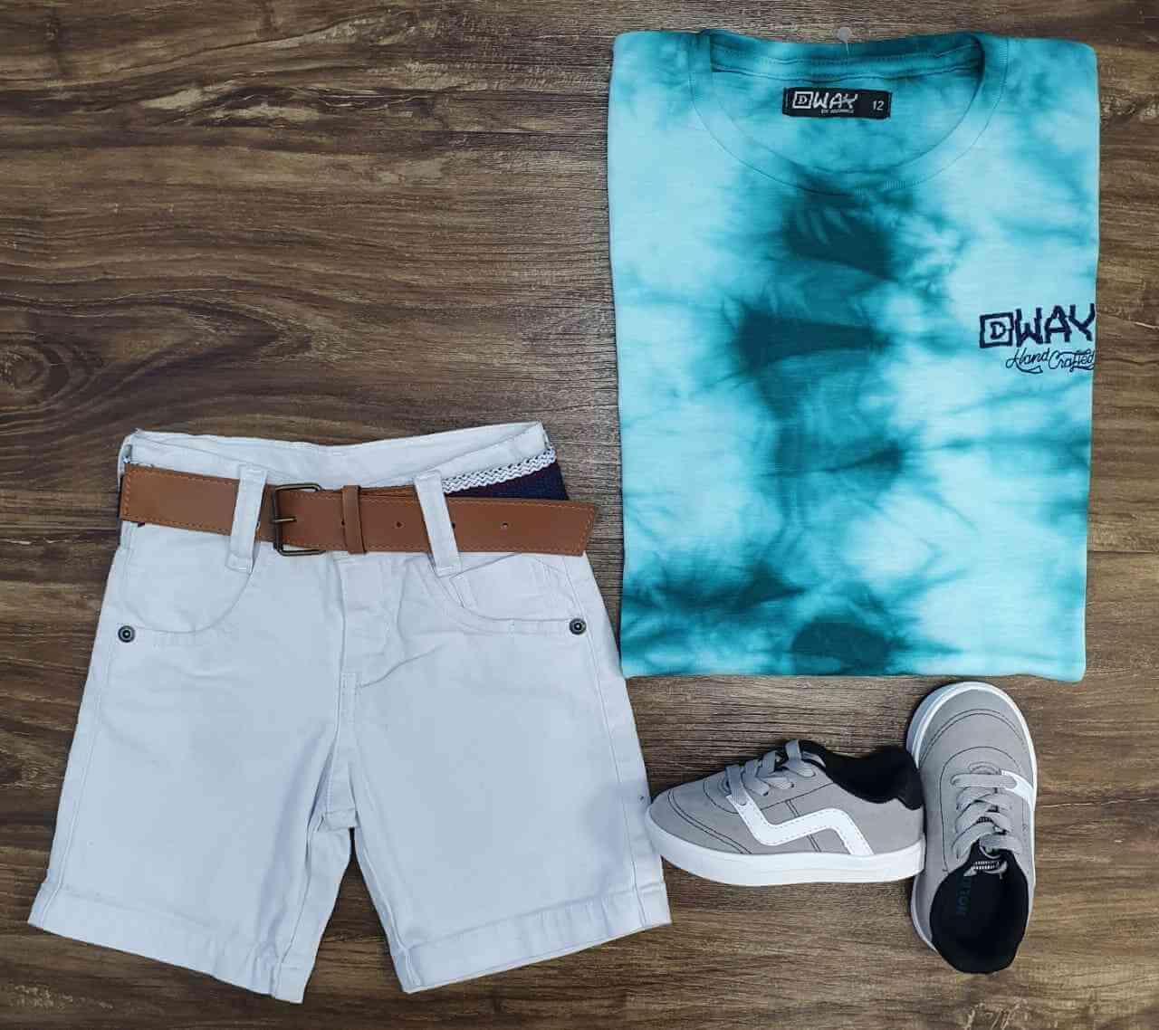 Bermuda com Camiseta Tye Dye Infantil