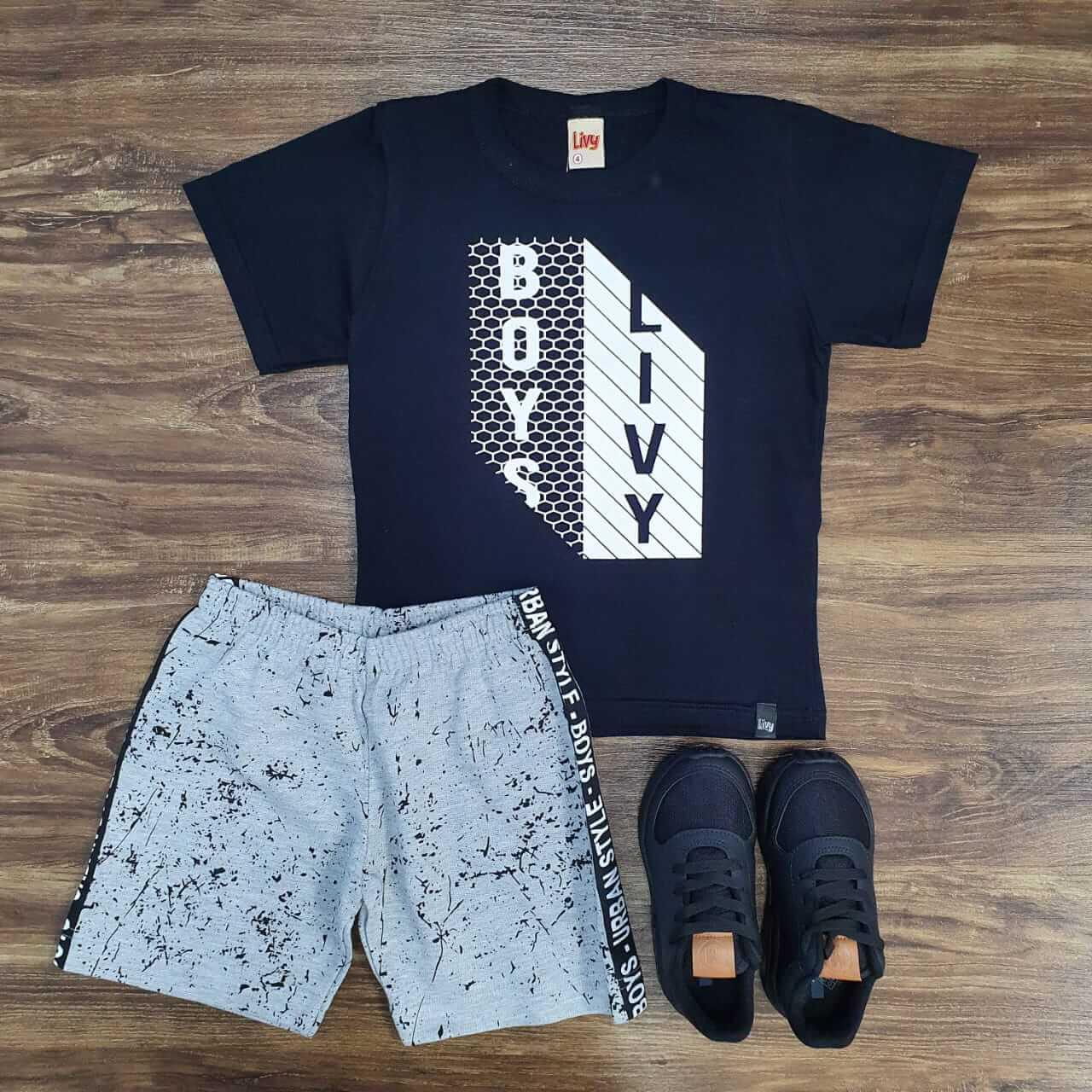 Bermuda com Camiseta Urban Style Infantil