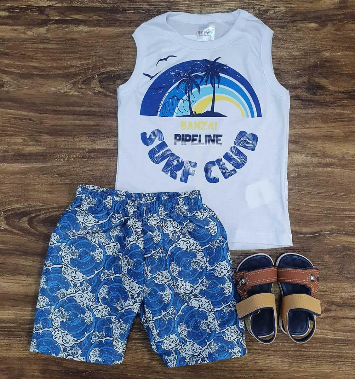 Bermuda com Regata Surf Club Infantil