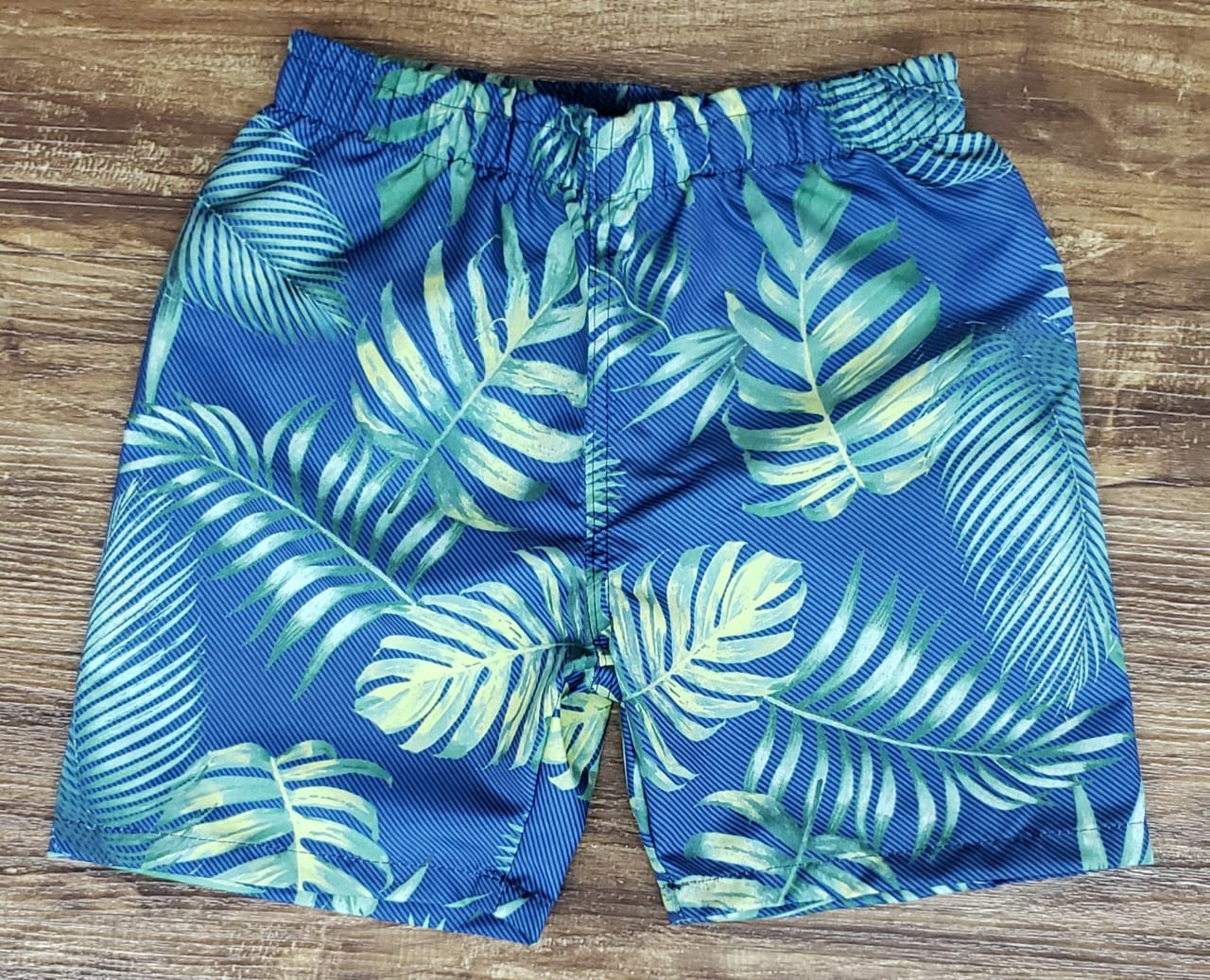 Bermuda Praia Floral Azul Infantil