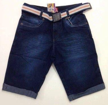 Bermuda Jeans Azul com Cinto Megan Kids