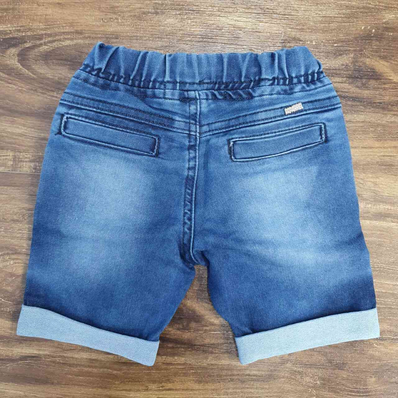 Bermuda Jeans Barra Dobrada Infantil
