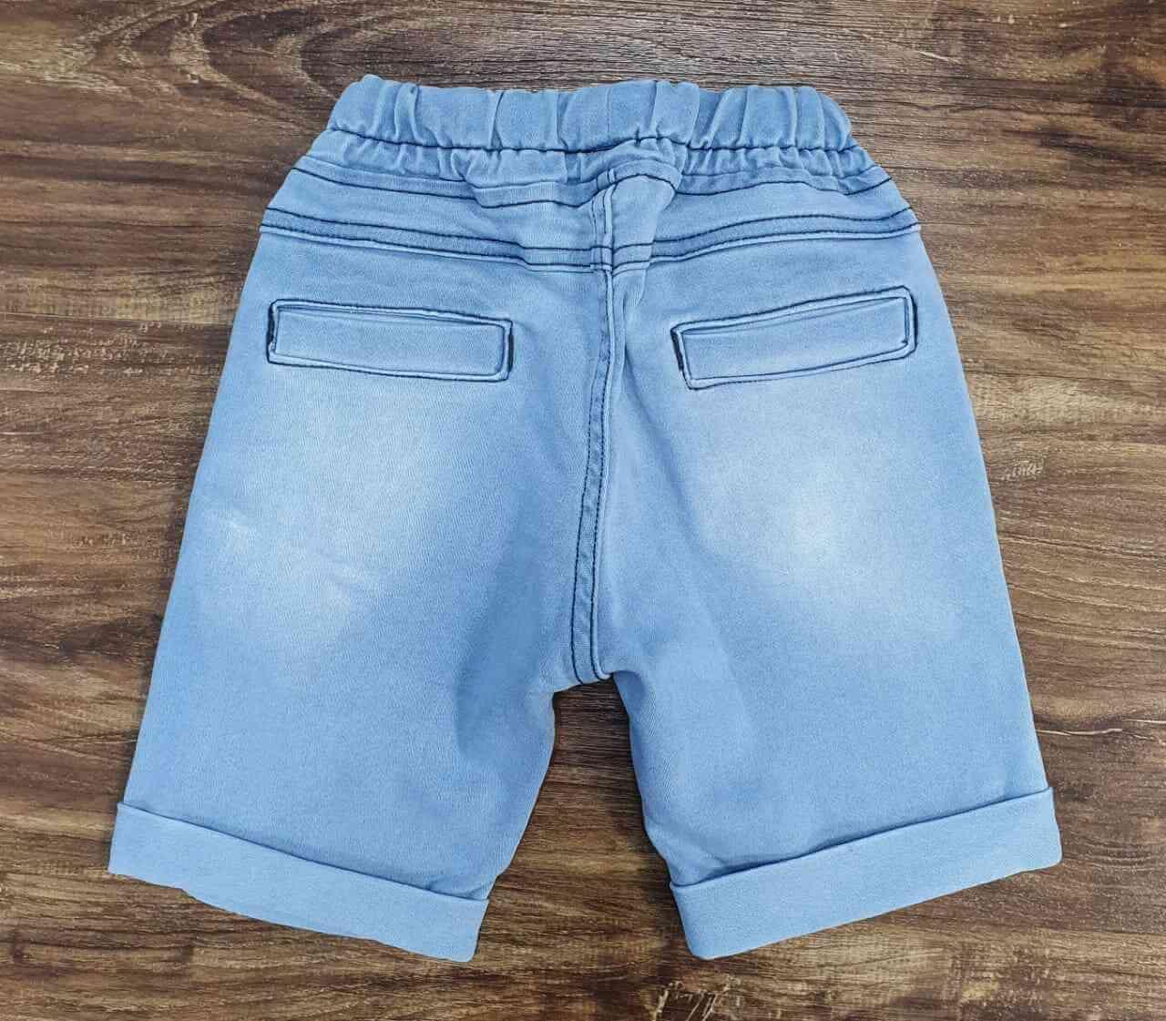 Bermuda Jeans com Cordão Infantil