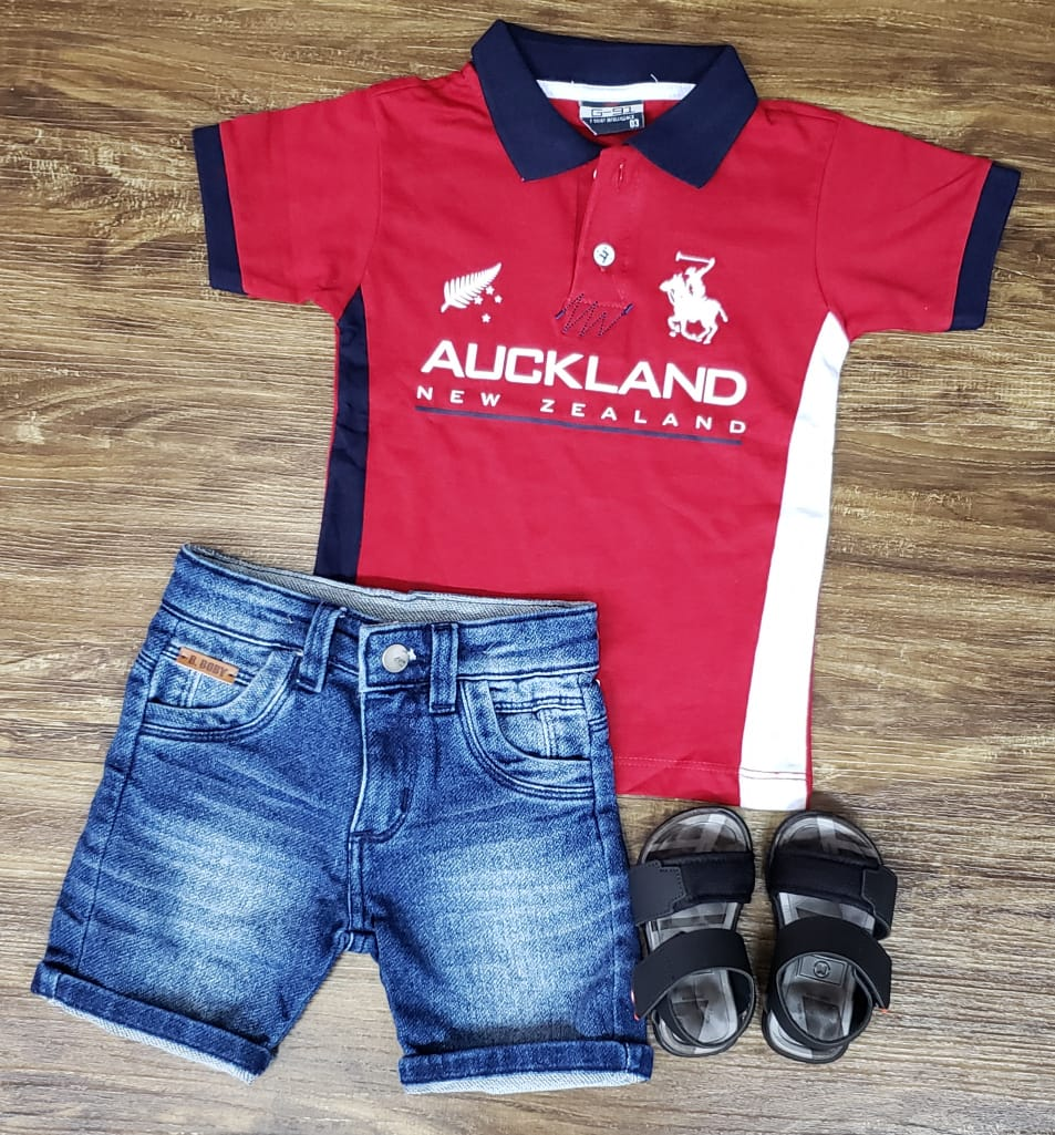 Bermuda Jeans com Polo New Zealand