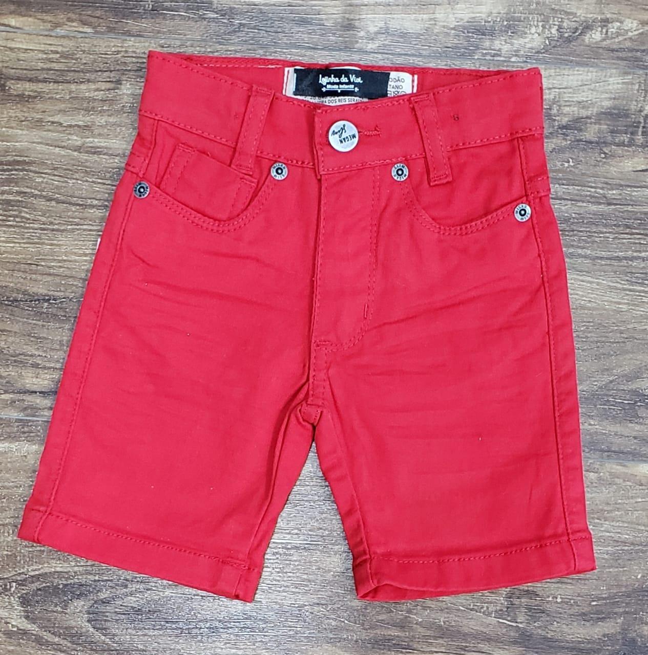 Bermuda Jeans Vermelha