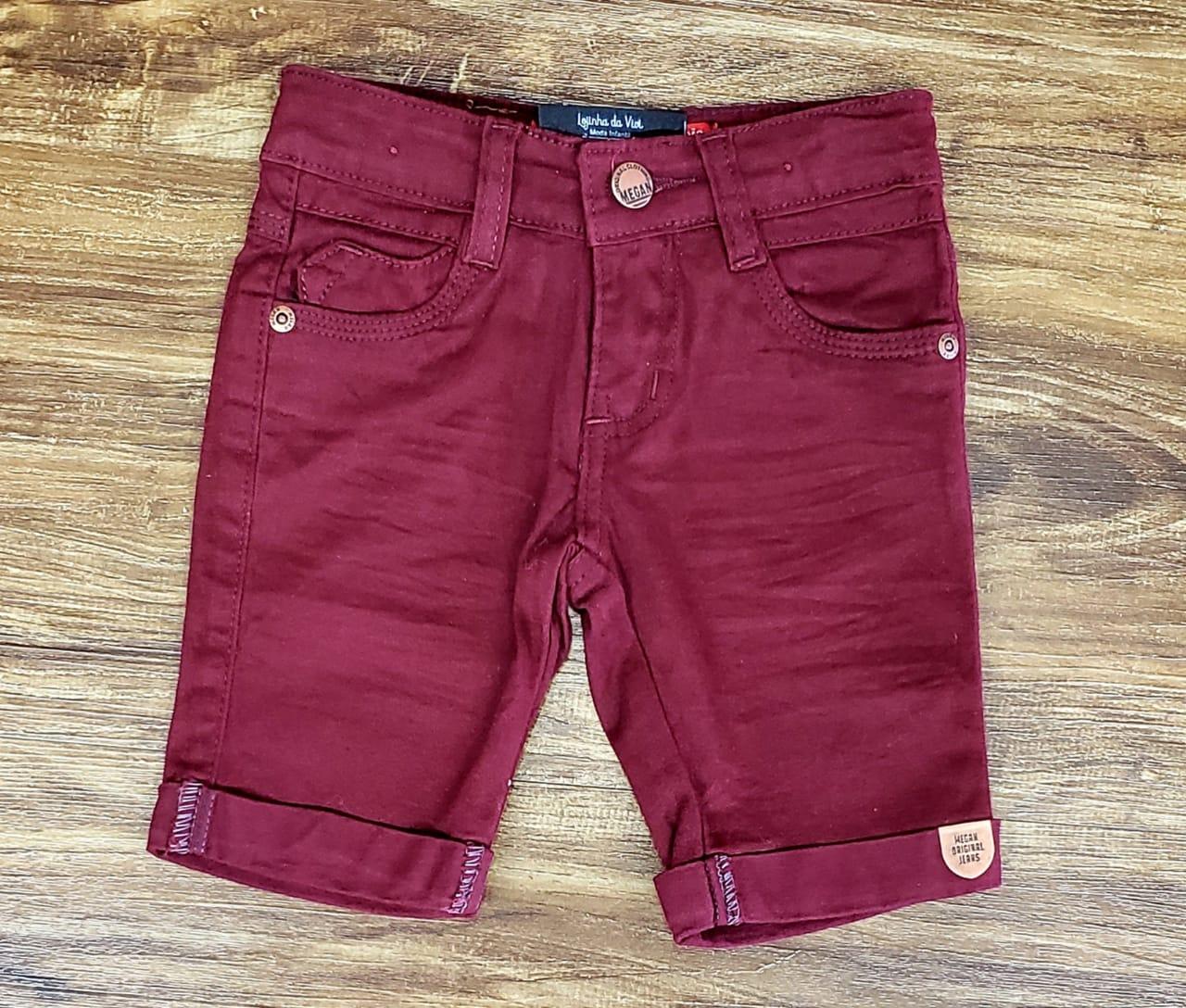 Bermuda Jeans Vinho