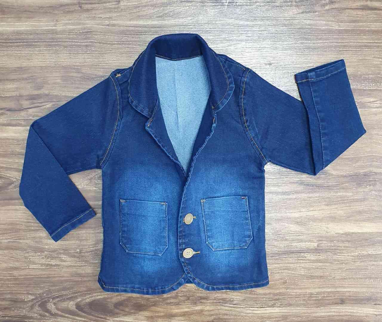 Blazer Jeans Escuro Infantil