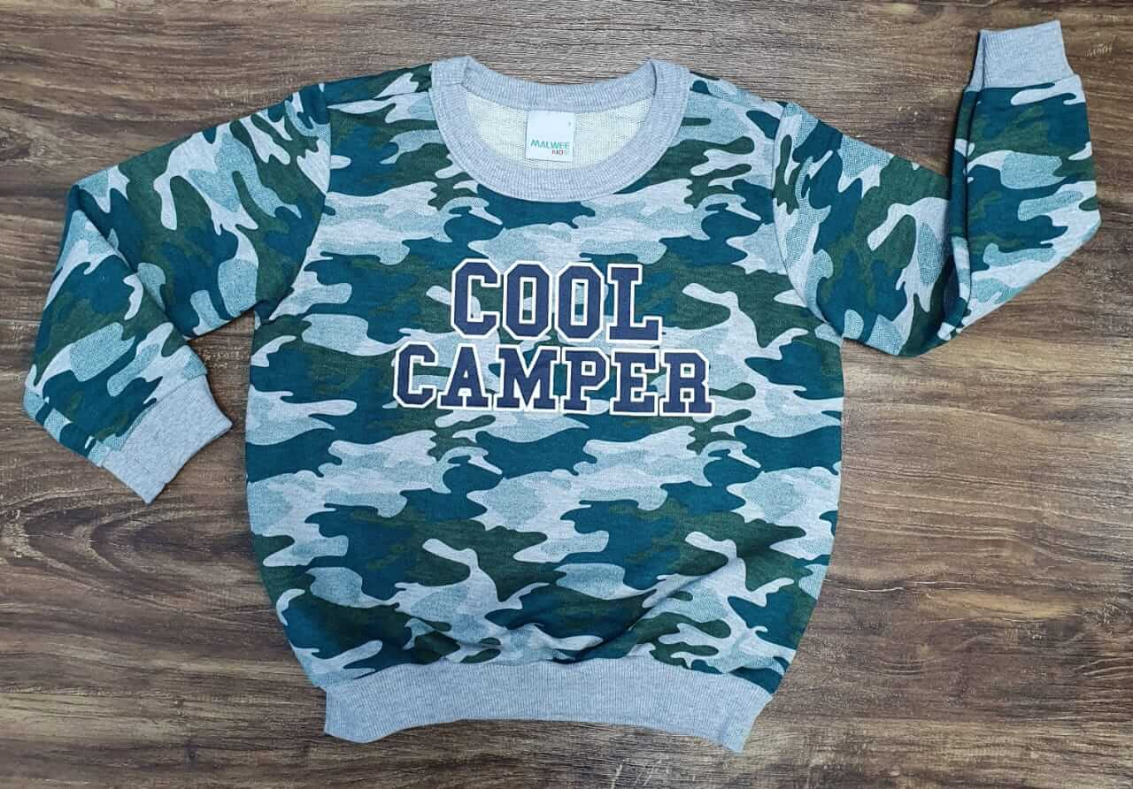 Blusa Camuflada Camper Infantil