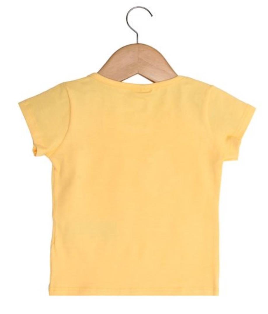 Blusa Colorittá Manga Curta Menina Amarelo