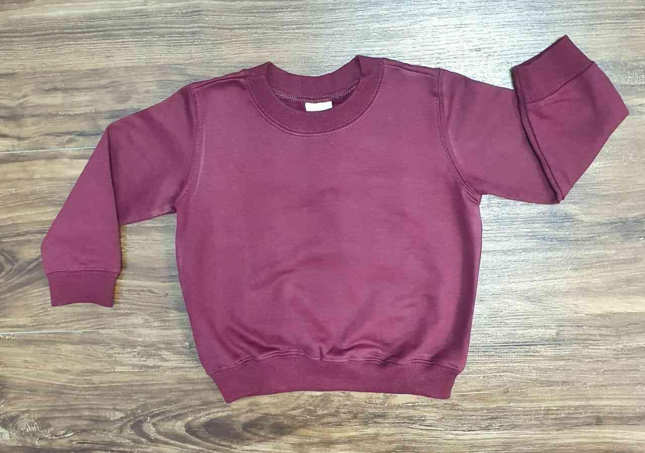 Blusa de Moletom Vinho Infantil
