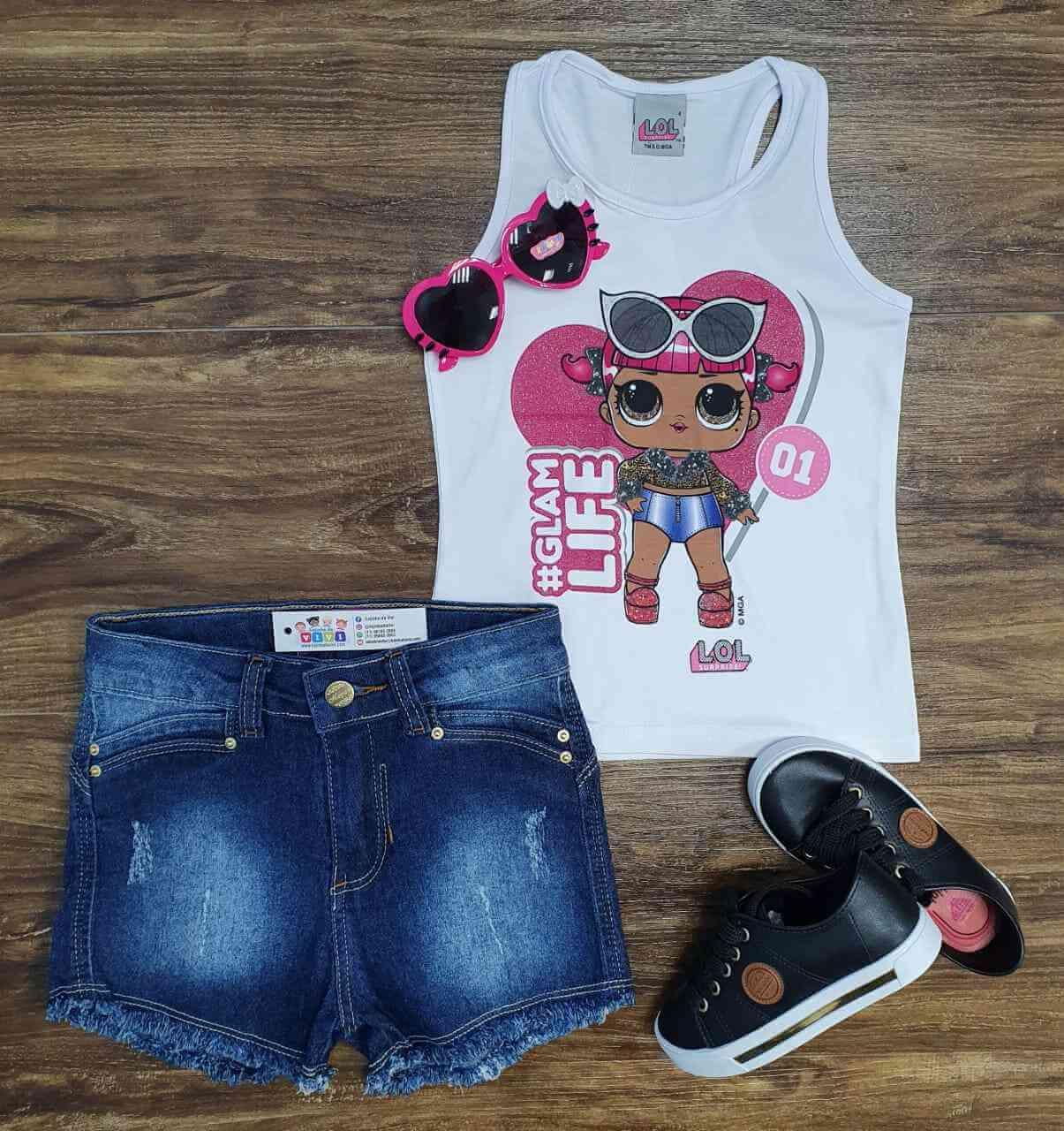 Blusa LOL com Shorts Infantil