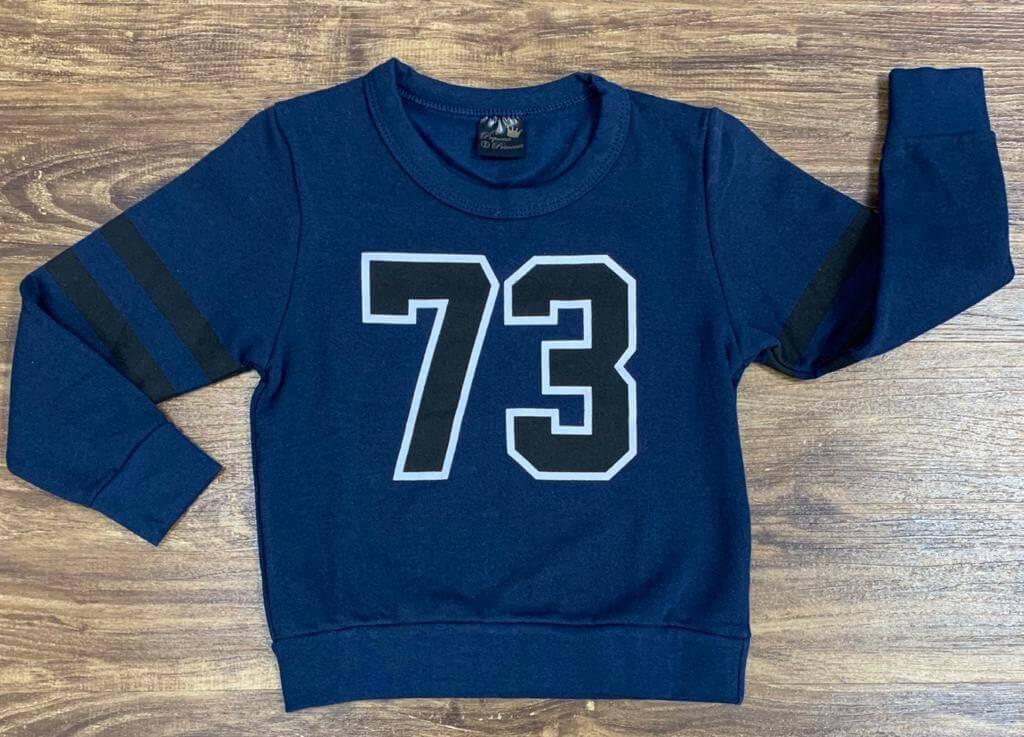 Blusa Moletom 73 Azul Marinho Infantil