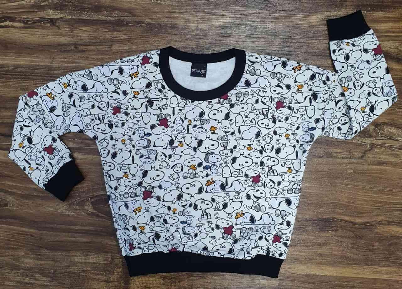 Blusa Moletom Snoopy Infantil