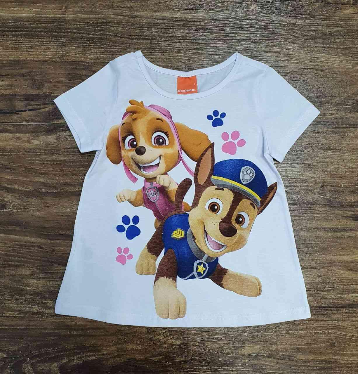 Camiseta Skye e Chase Patrulha Canina Infantil
