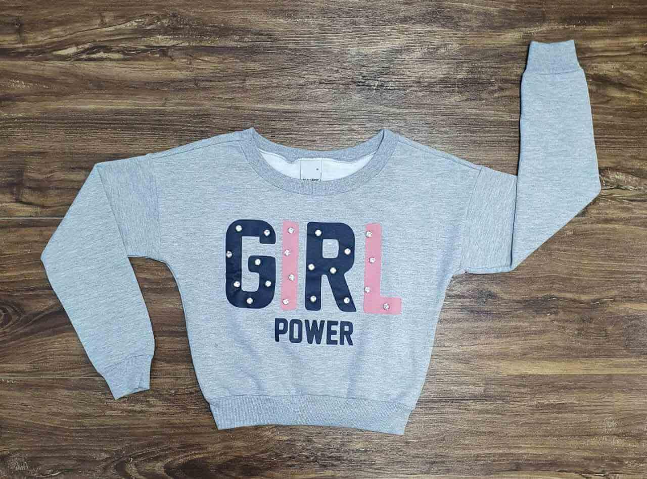 Blusão Girl Power Infantil