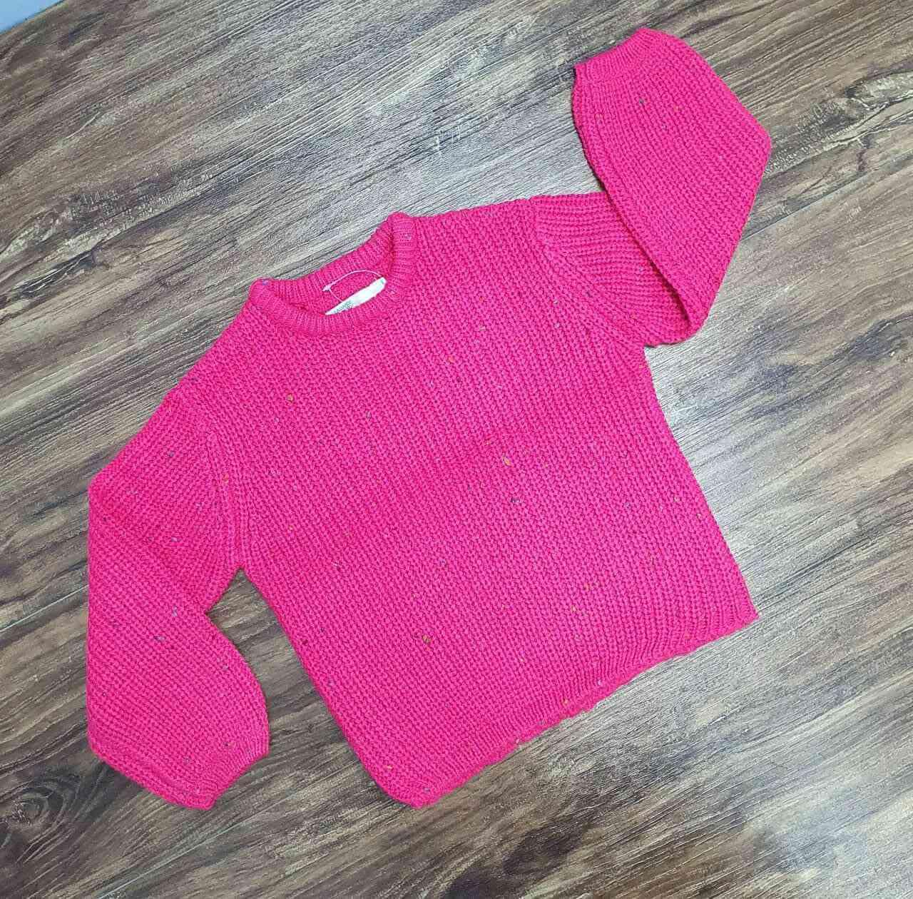 Blusão/Tricot Rosa Infantil