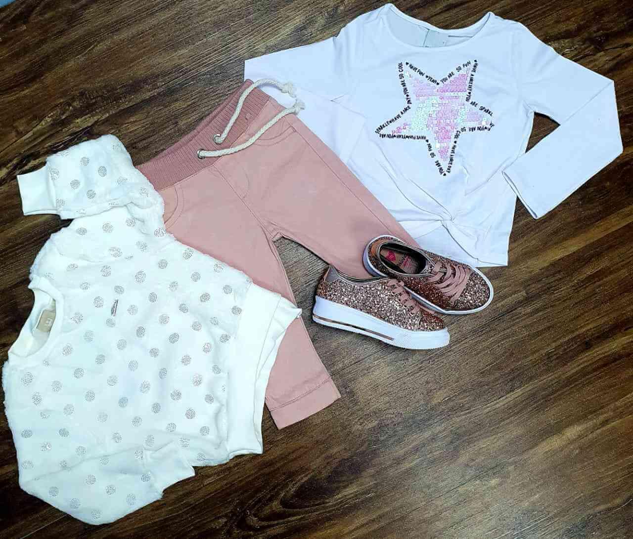 Blusão mais Blusa Estrela com Calça Infantil