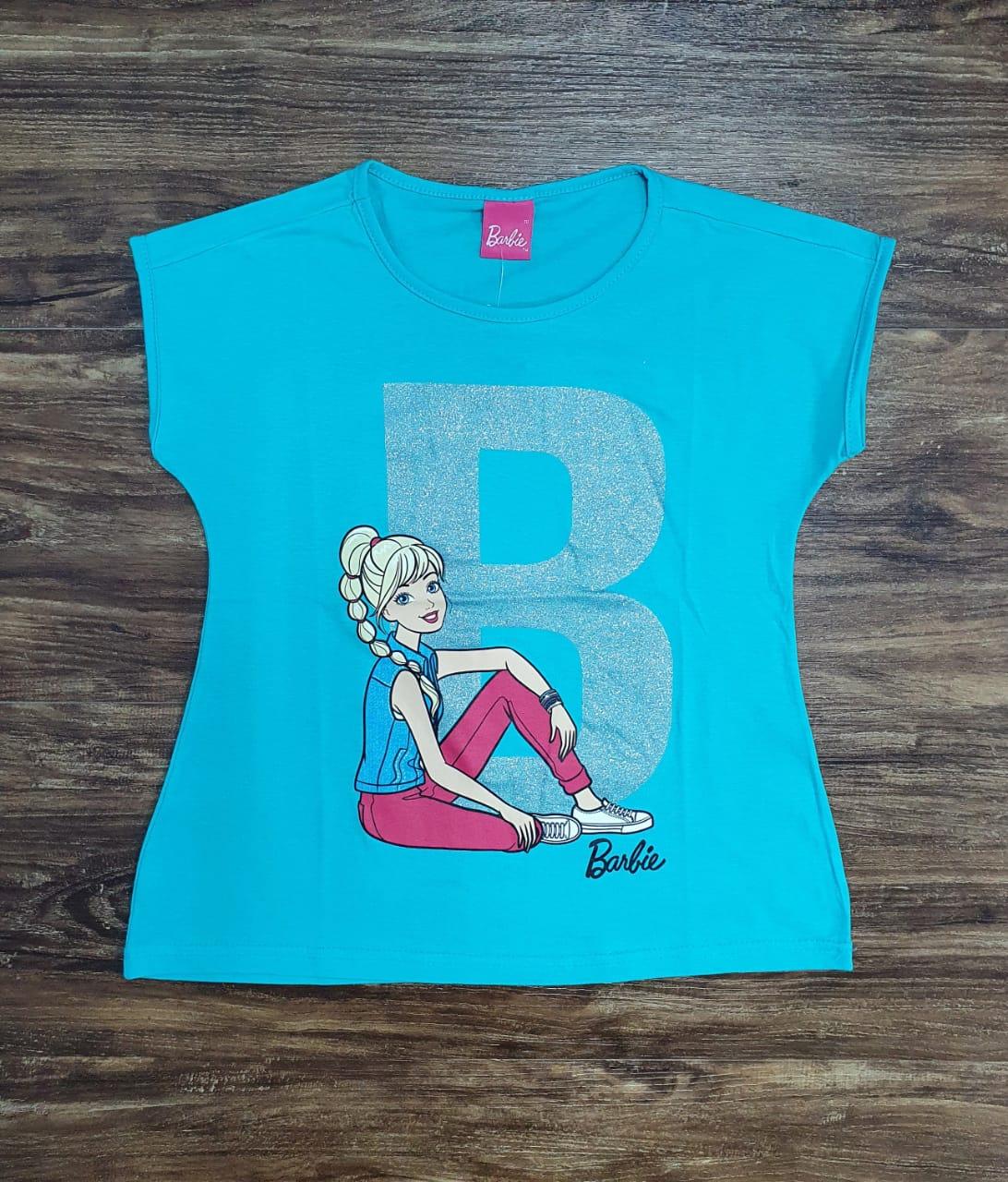 Blusinha Barbie Azul Infantil