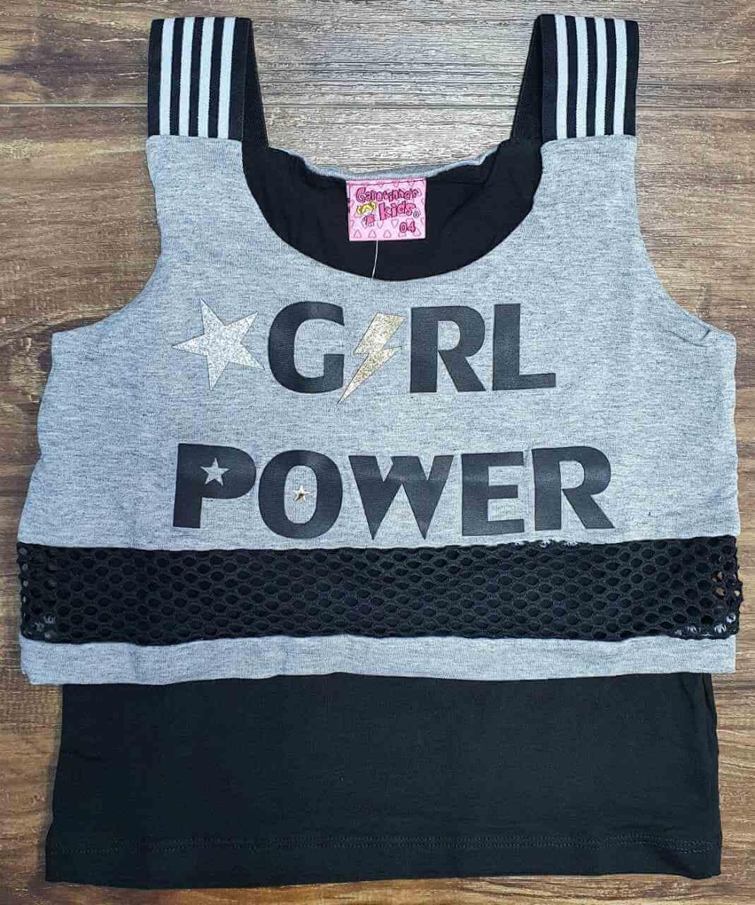 Blusinha Girl Power Infantil
