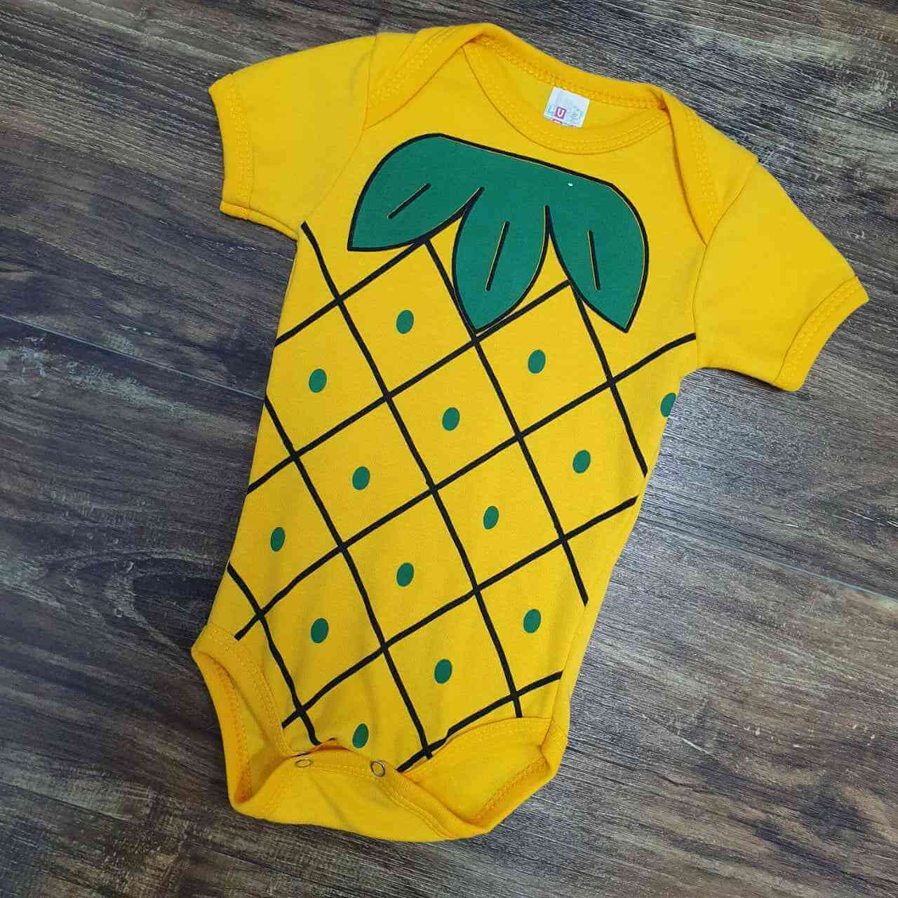Body Abacaxi Infantil
