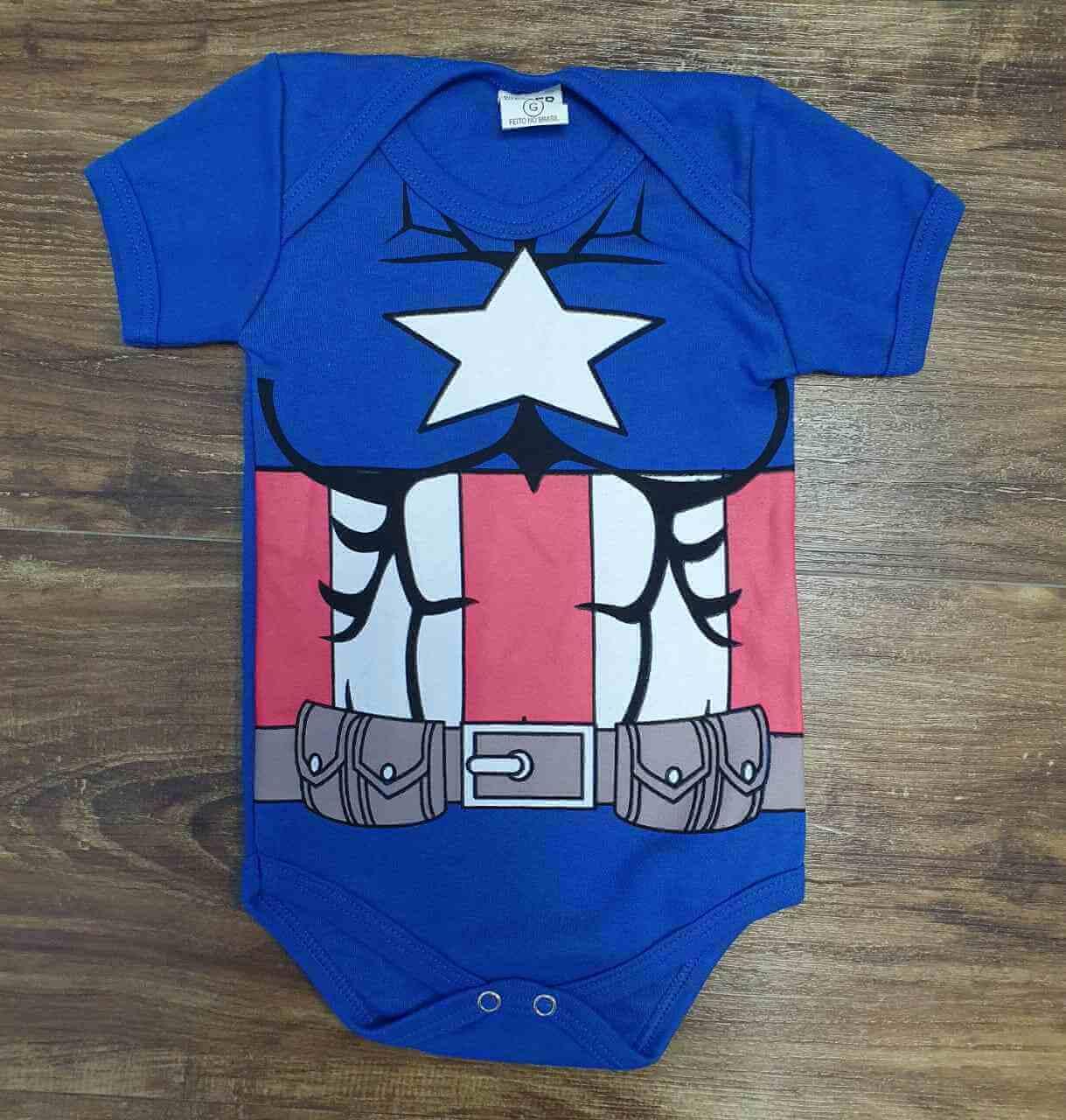 Body Capitão América Infantil