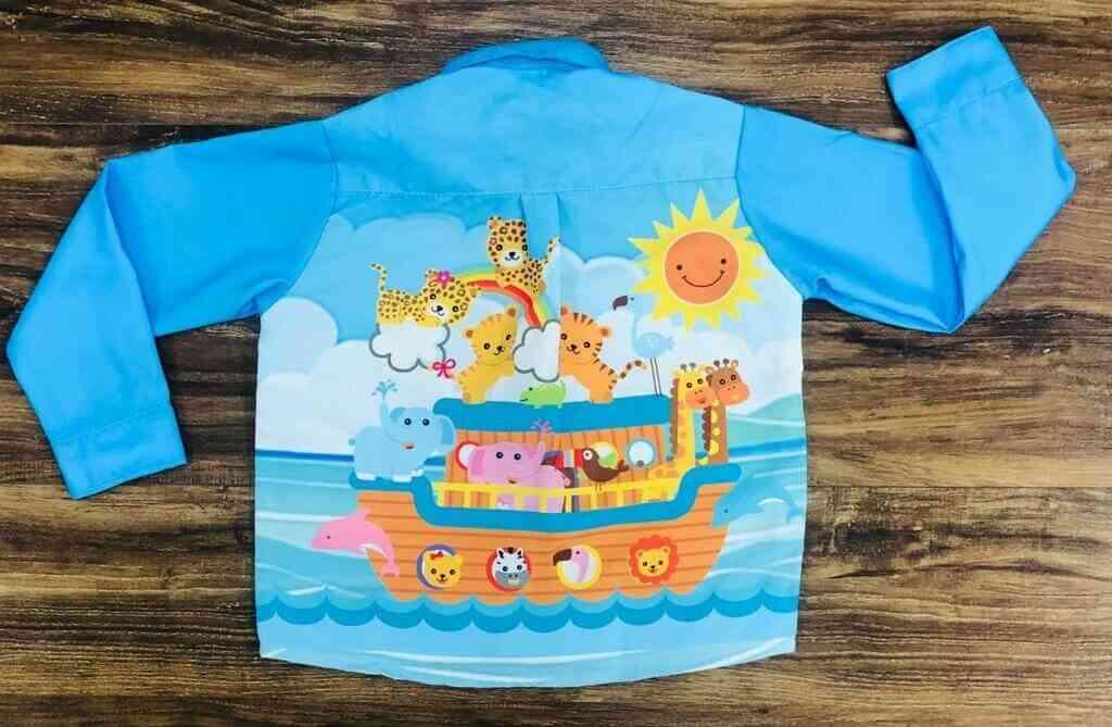 Conjunto Camisa Longa Arca de Nóe Infantil