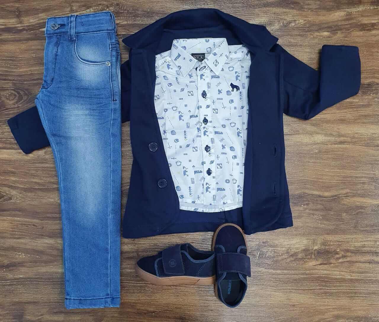 Calça com Blazer e Camisa Manga Longa Infantil