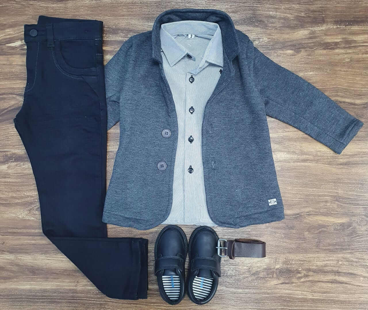 Calça com Blazer e Camisa Social Infantil