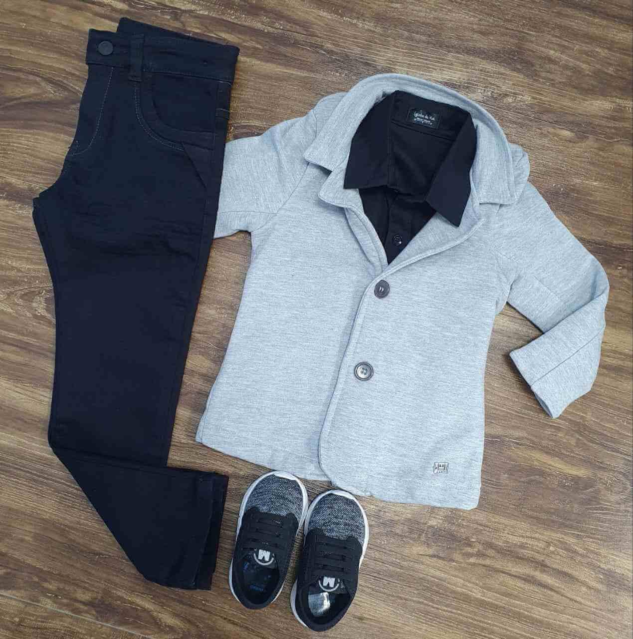Calça com Blazer mais Camisa Infantil