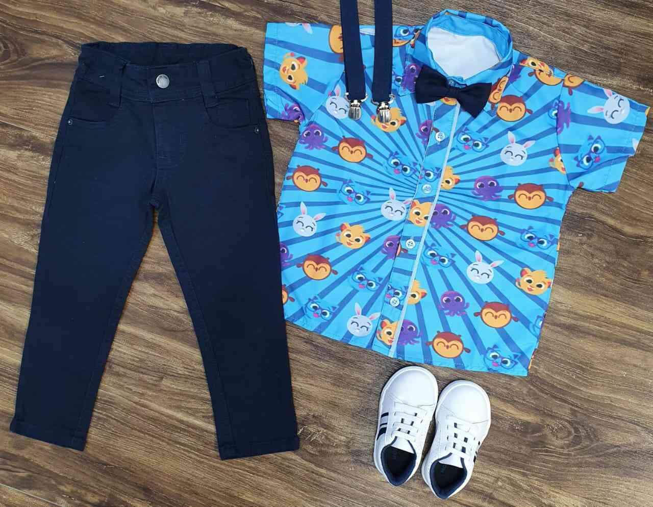 Calça com Camisa Bolofofos Infantil