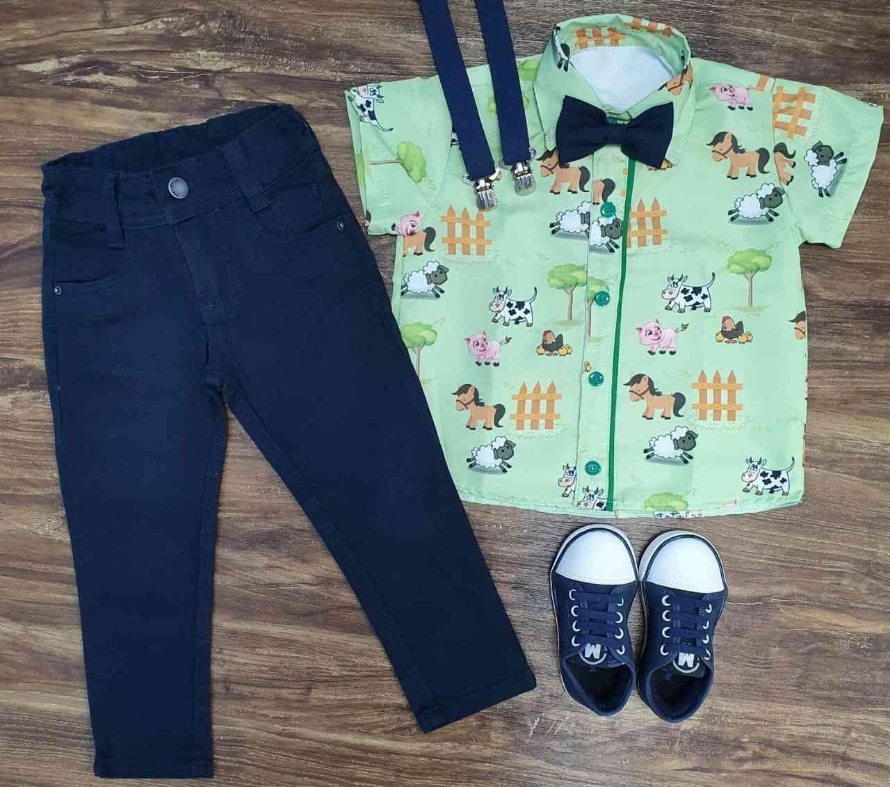Calça com Camisa Fazendinha Infantil